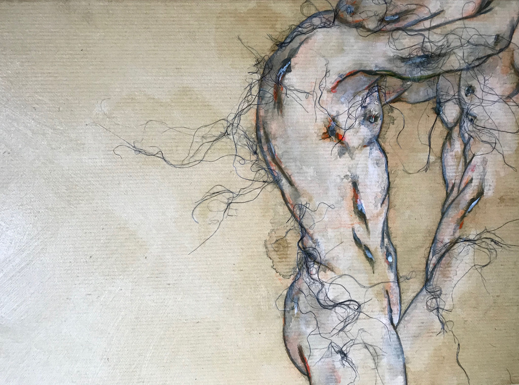 Enlacés, 41 x 27 cm, 2017 - Collection particulière.