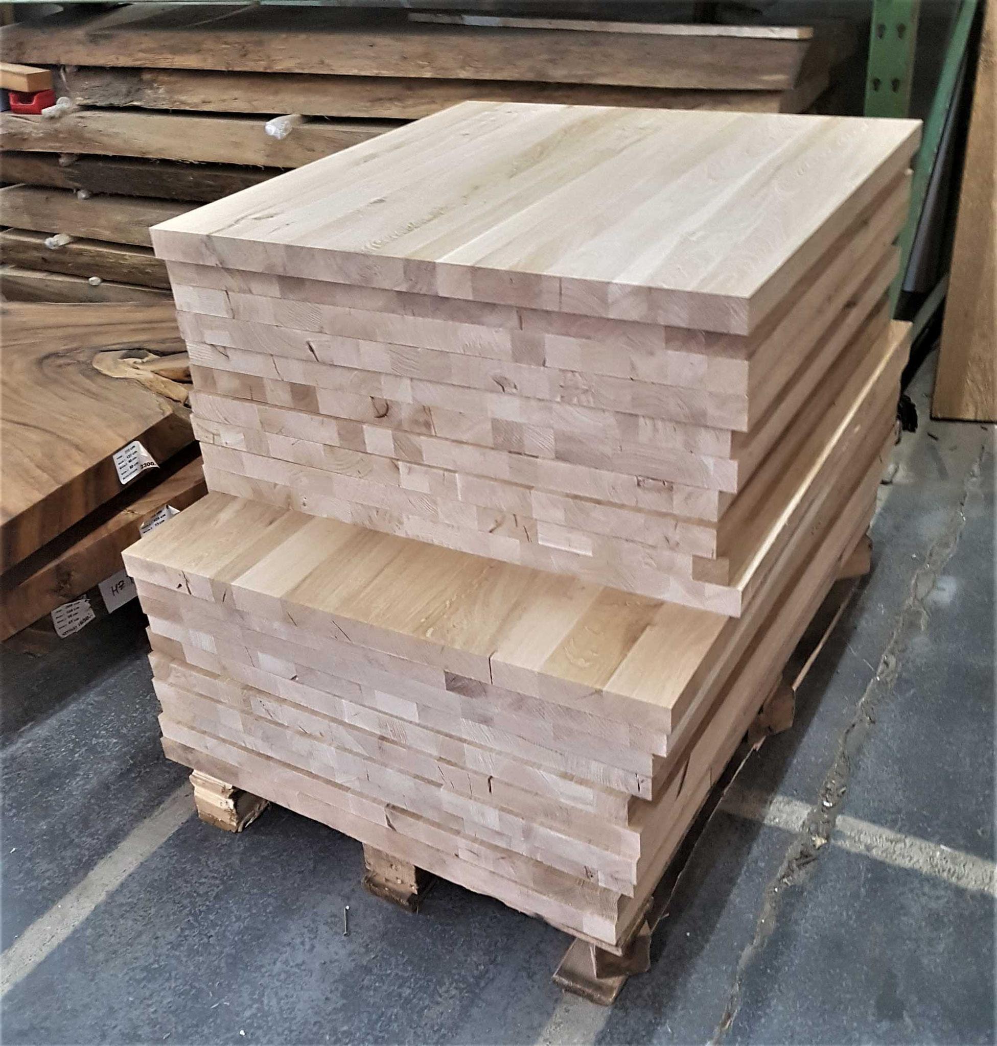 Eichen Tischplatten für Ihr Bistro Tische noch nicht geschliffen Abmessung L/B 80 x 80cm und 120 x 80 cm
