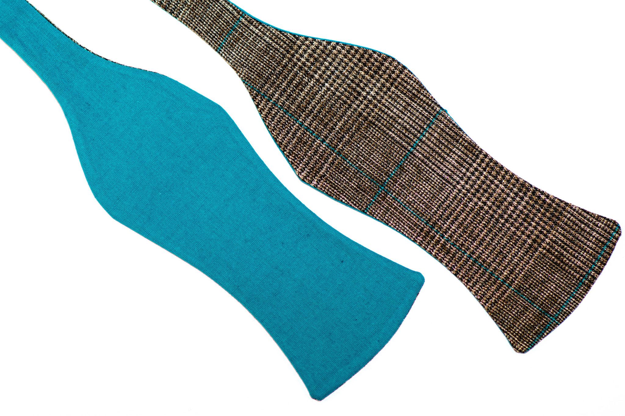 Blaue braune türkise Herren Anzug Schleife zum selberbinden – Selbstbinder