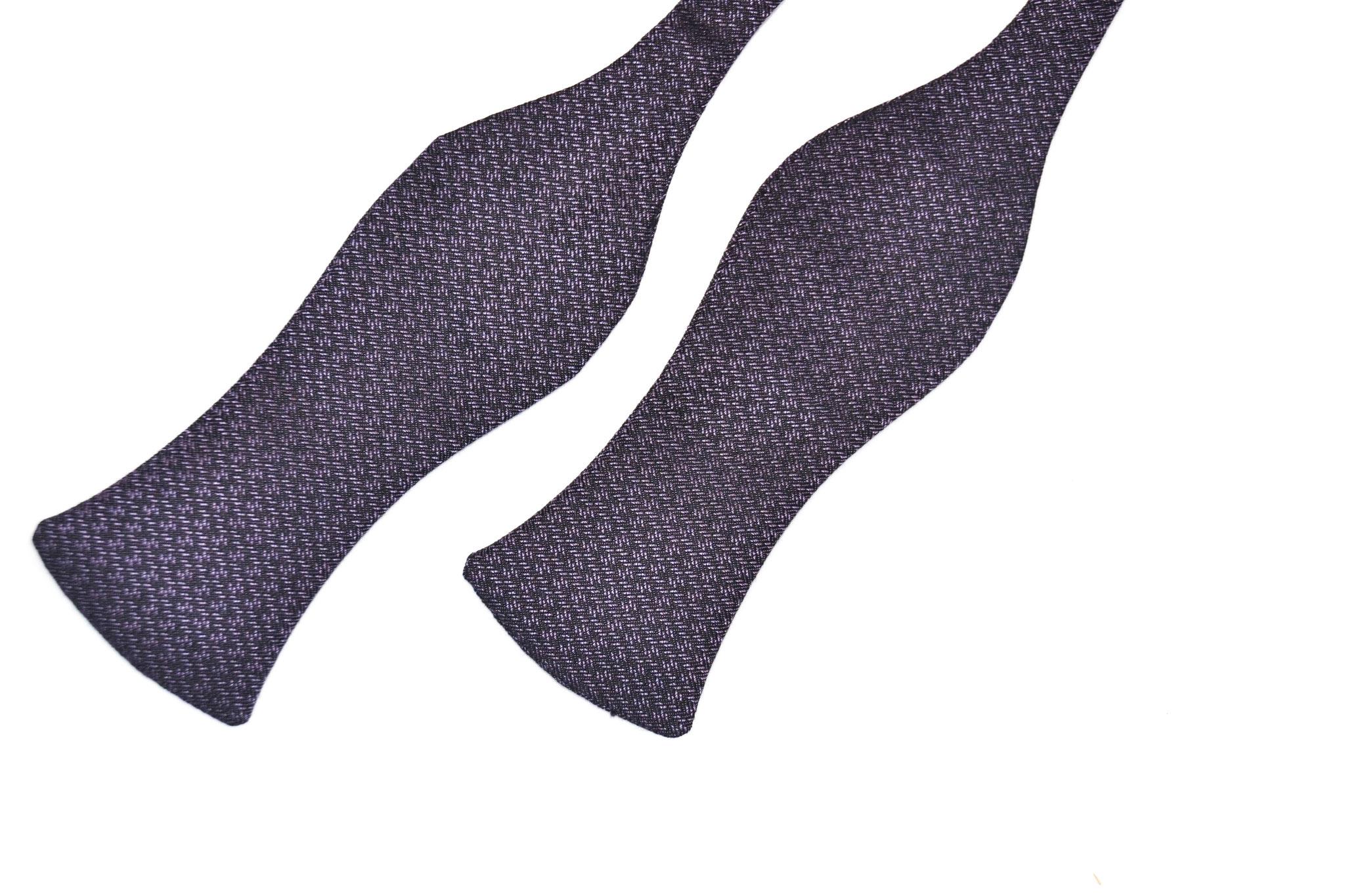 Herren Anzug Fliege zum selbstbinden in schwarz lila elegant- Schleife