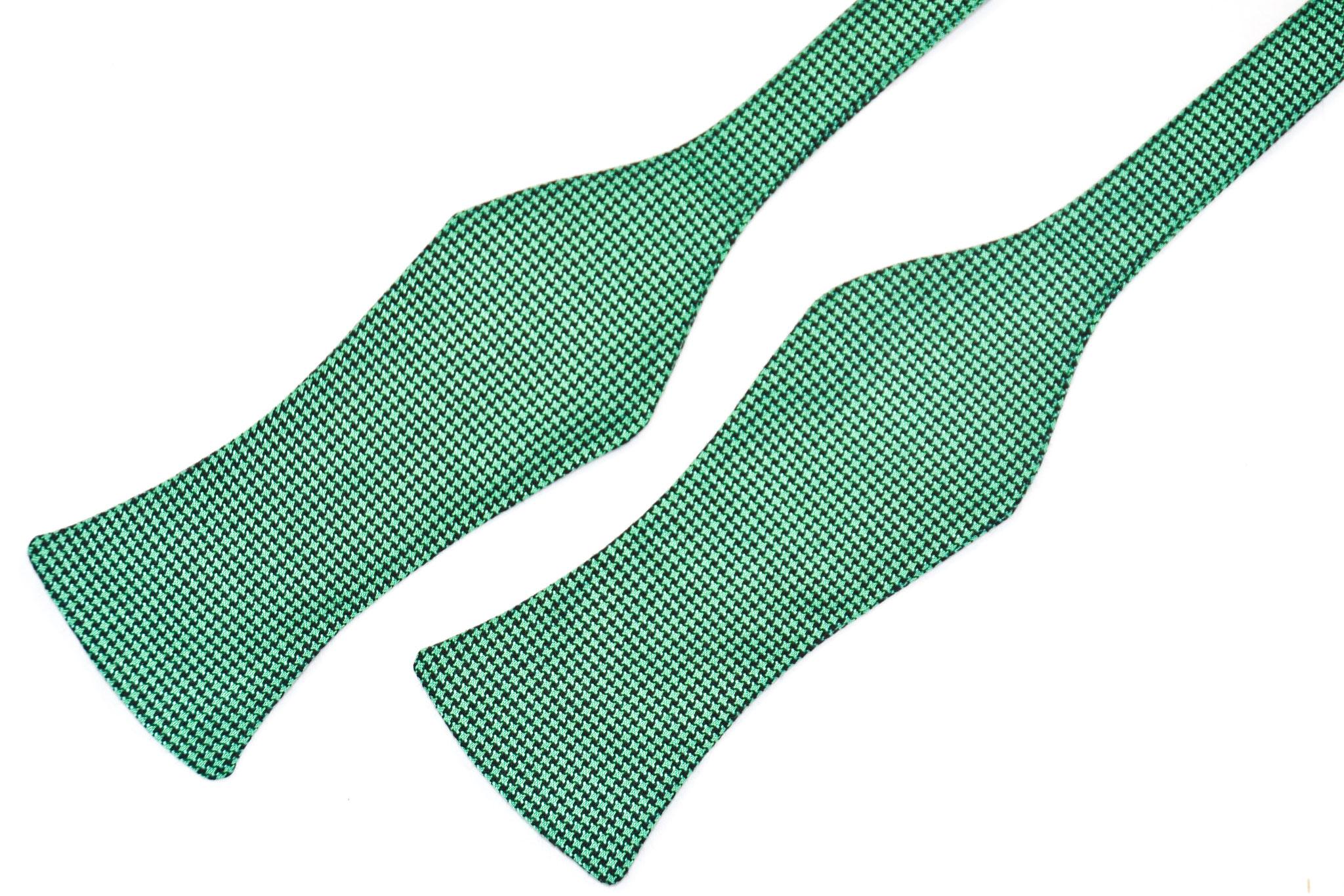Herren Anzug Fliege zum selbstbinden in schwarz grün elegant- Schleife
