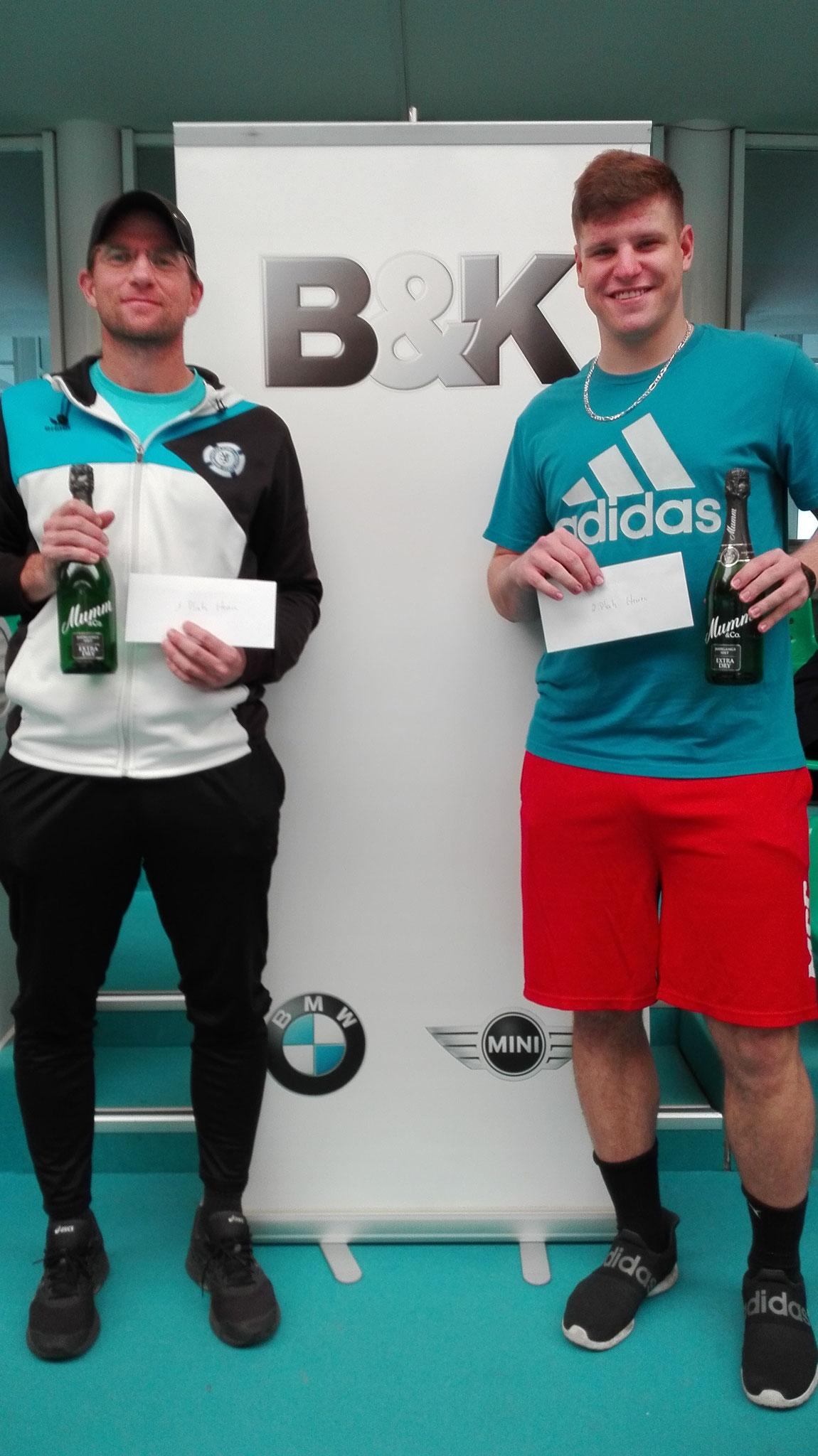Finalisten bei den Herren: Daniel Höppner und  Linus Holthey. Sieger : Daniel Höppner