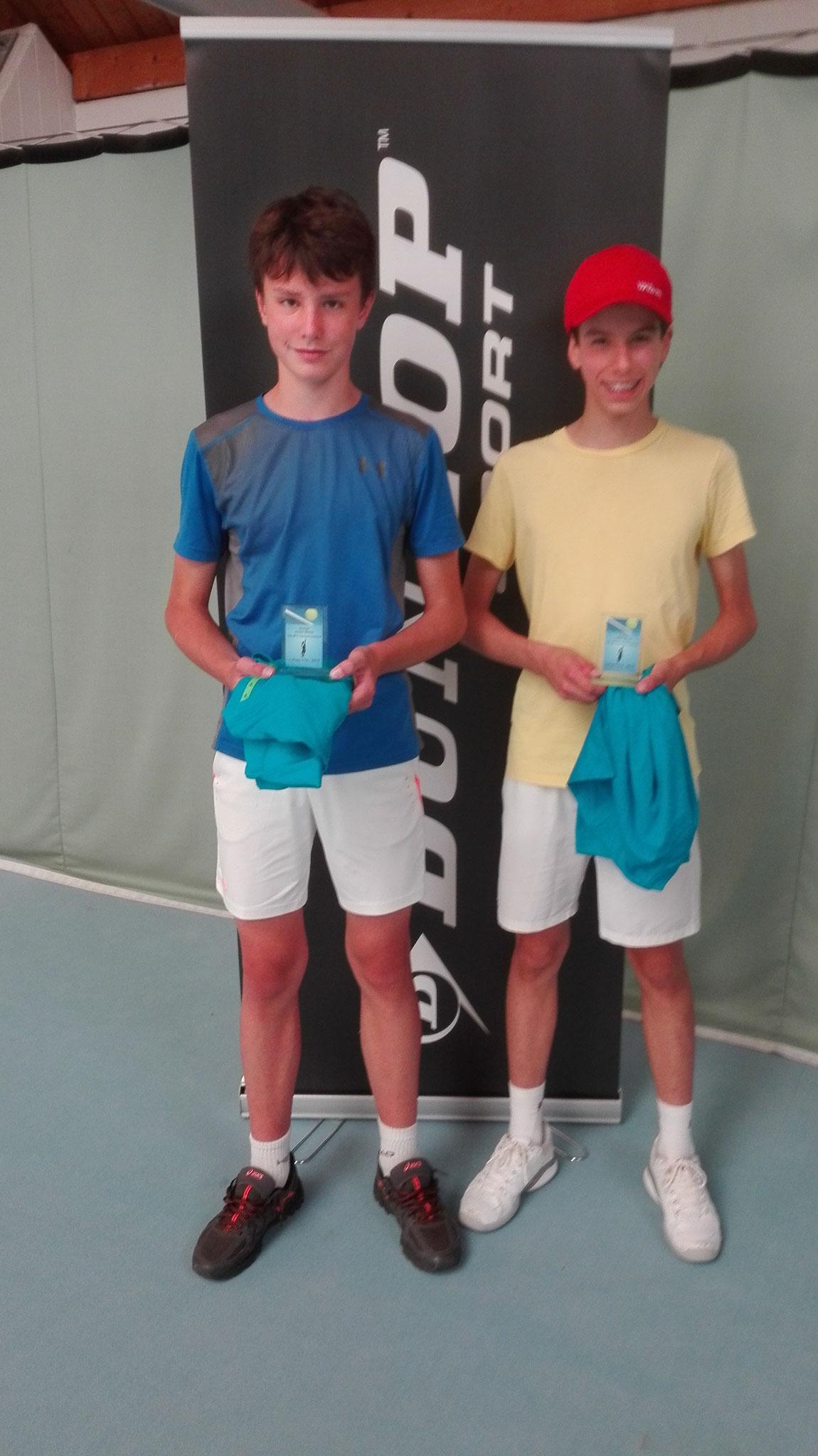 Jungen U14: Sieger Louis Schubert, 2.Platz Jonathan Remmers