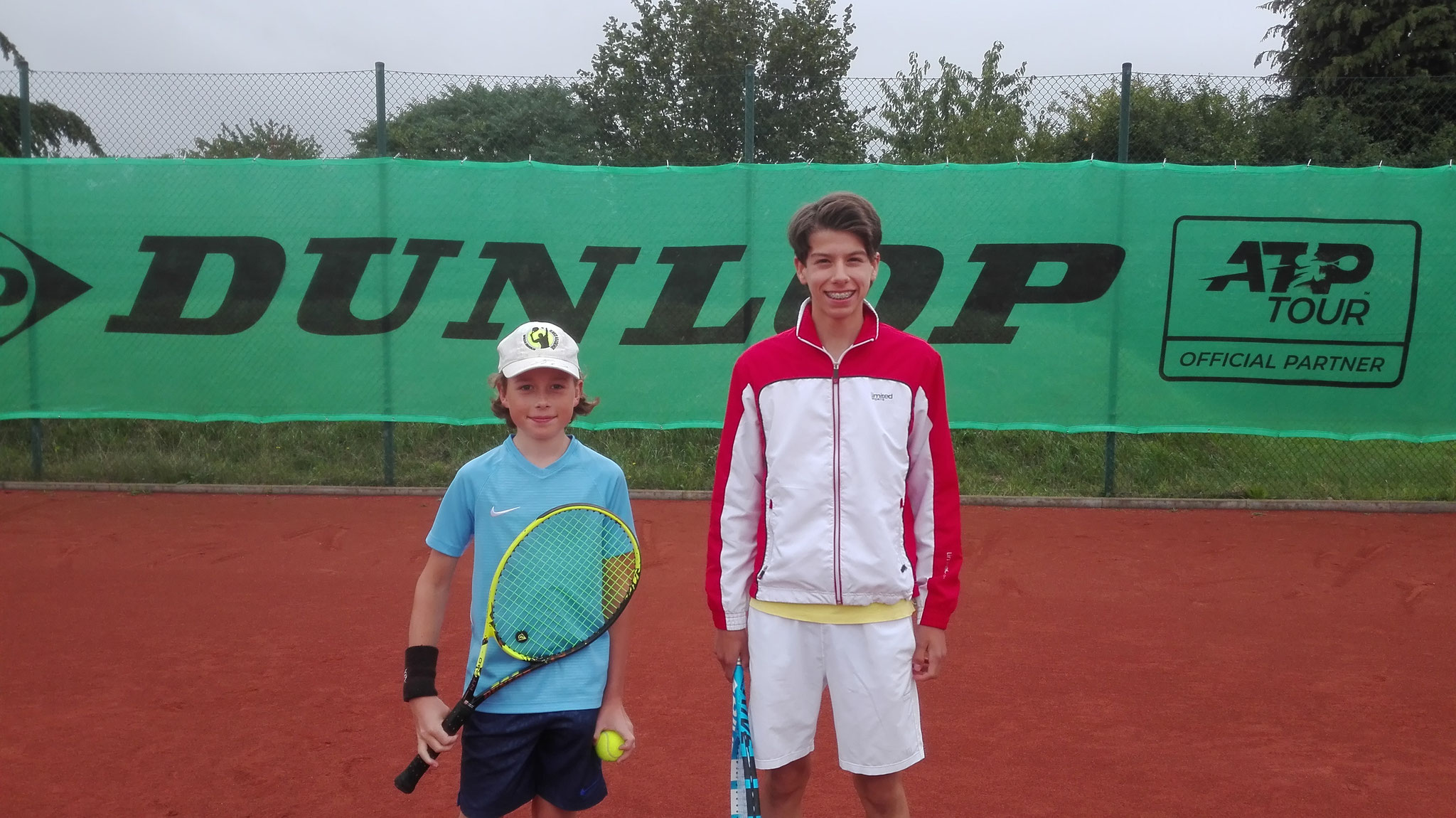Jungen U14: Halbfinale David-Keanu Heller gegen Jonathan Remmers.