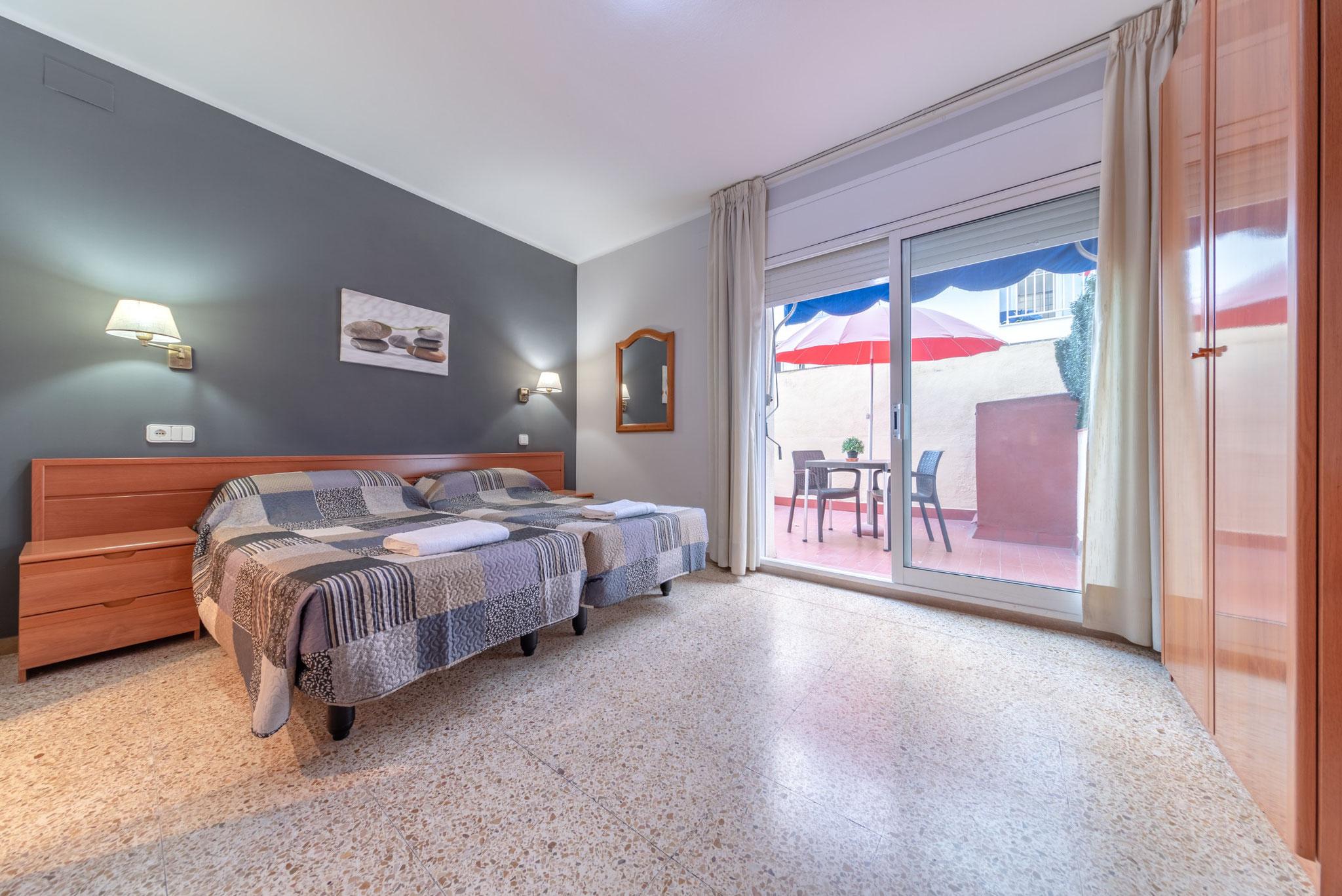 Doble 2 camas terraza