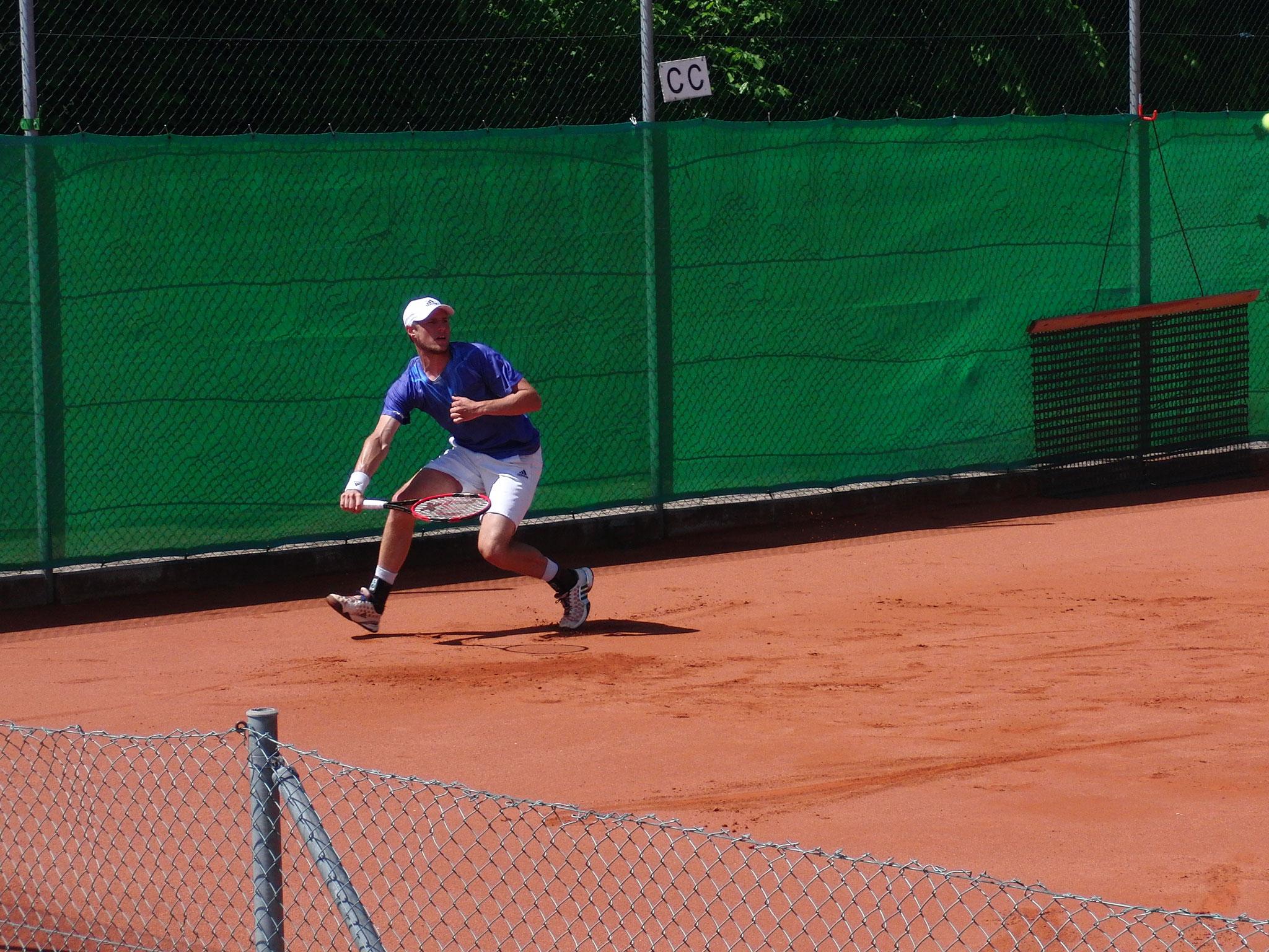 Slideshow - Turnierzweiter Daniel Baumann (TC Ismaning)
