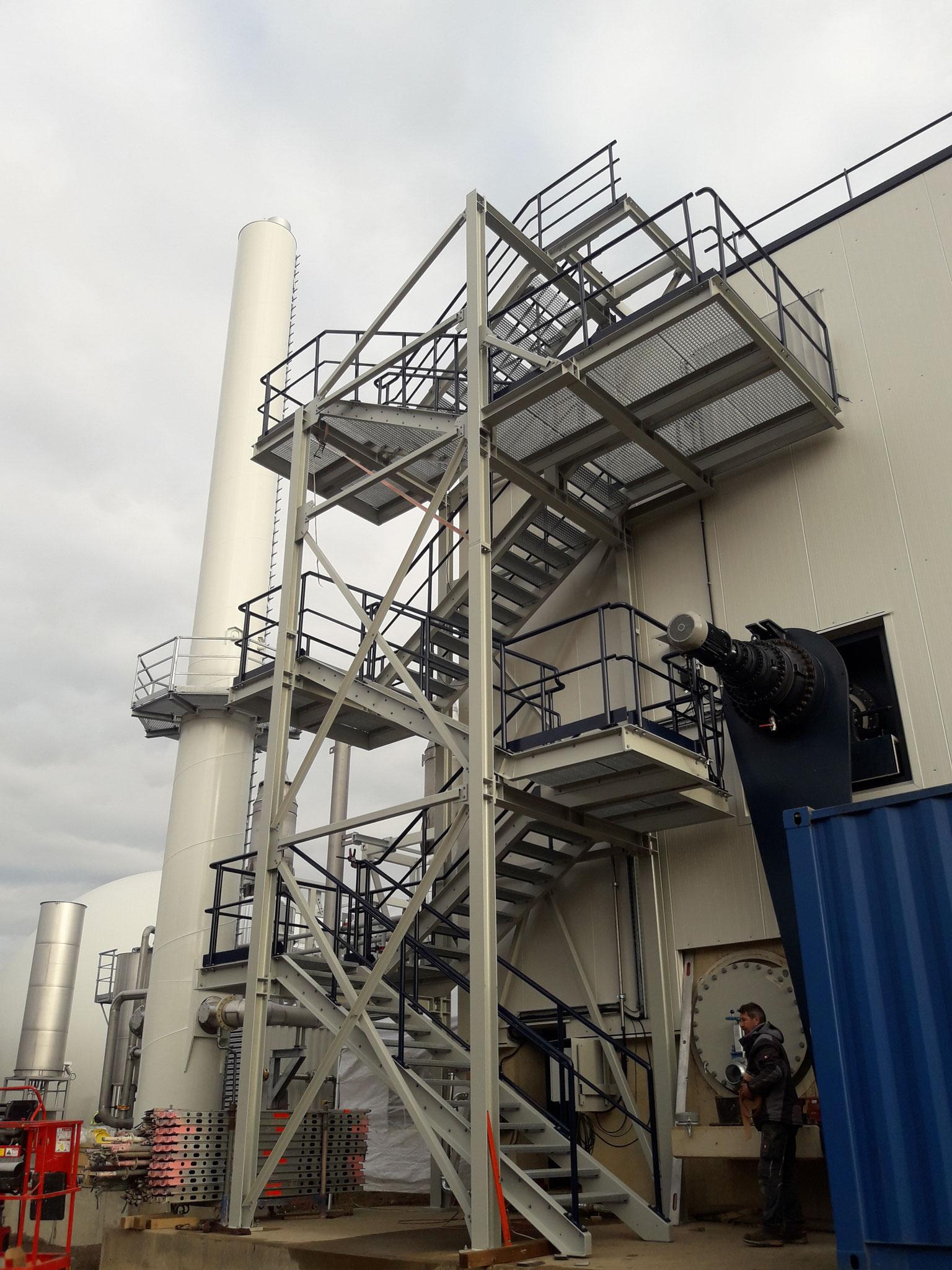 Treppenturm / TTV Anlage der Fa. Thöni in Erftstadt (D)