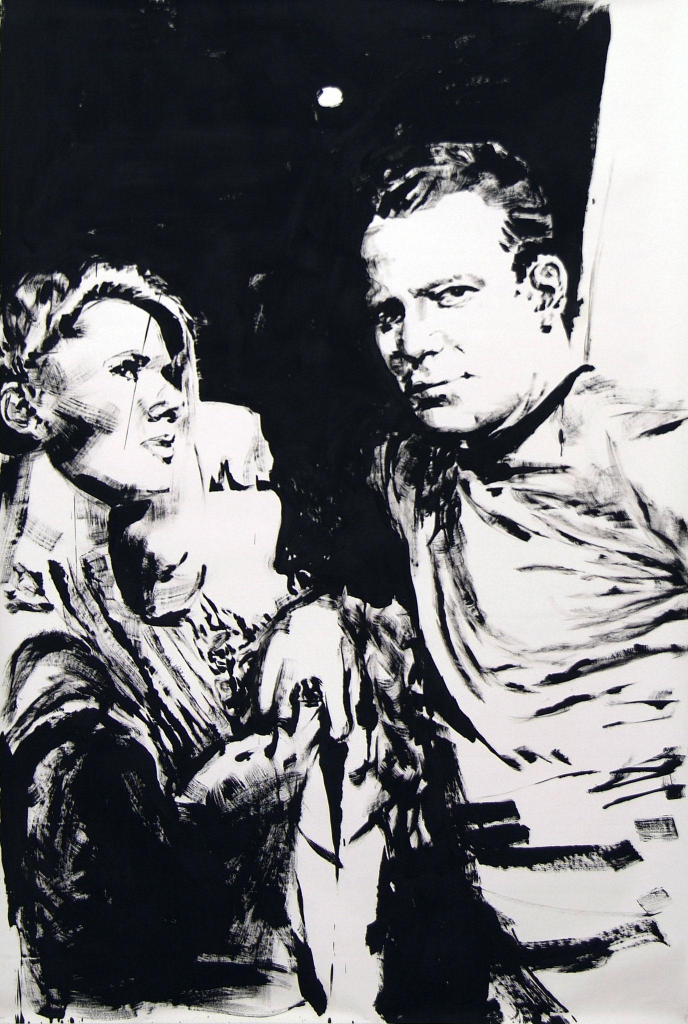 """""""Kirk"""" 2010, 230 x 150 cm, Öl auf Karton"""
