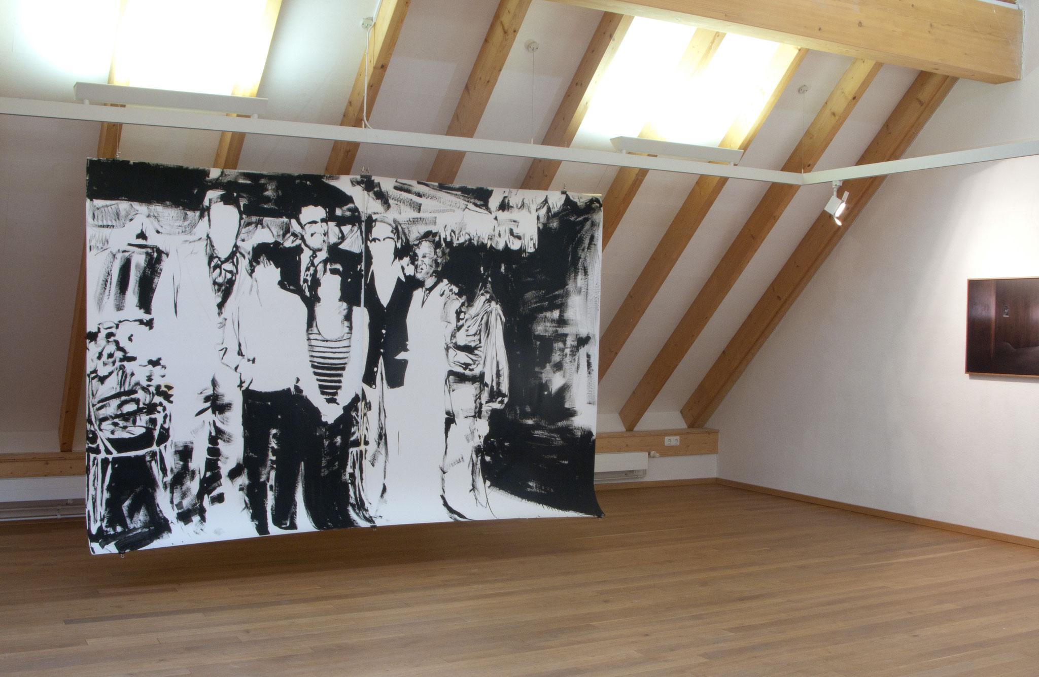 """""""Zwischen Kisten und Tapeten"""" Ausstellungsansicht 2013, Essenheim"""