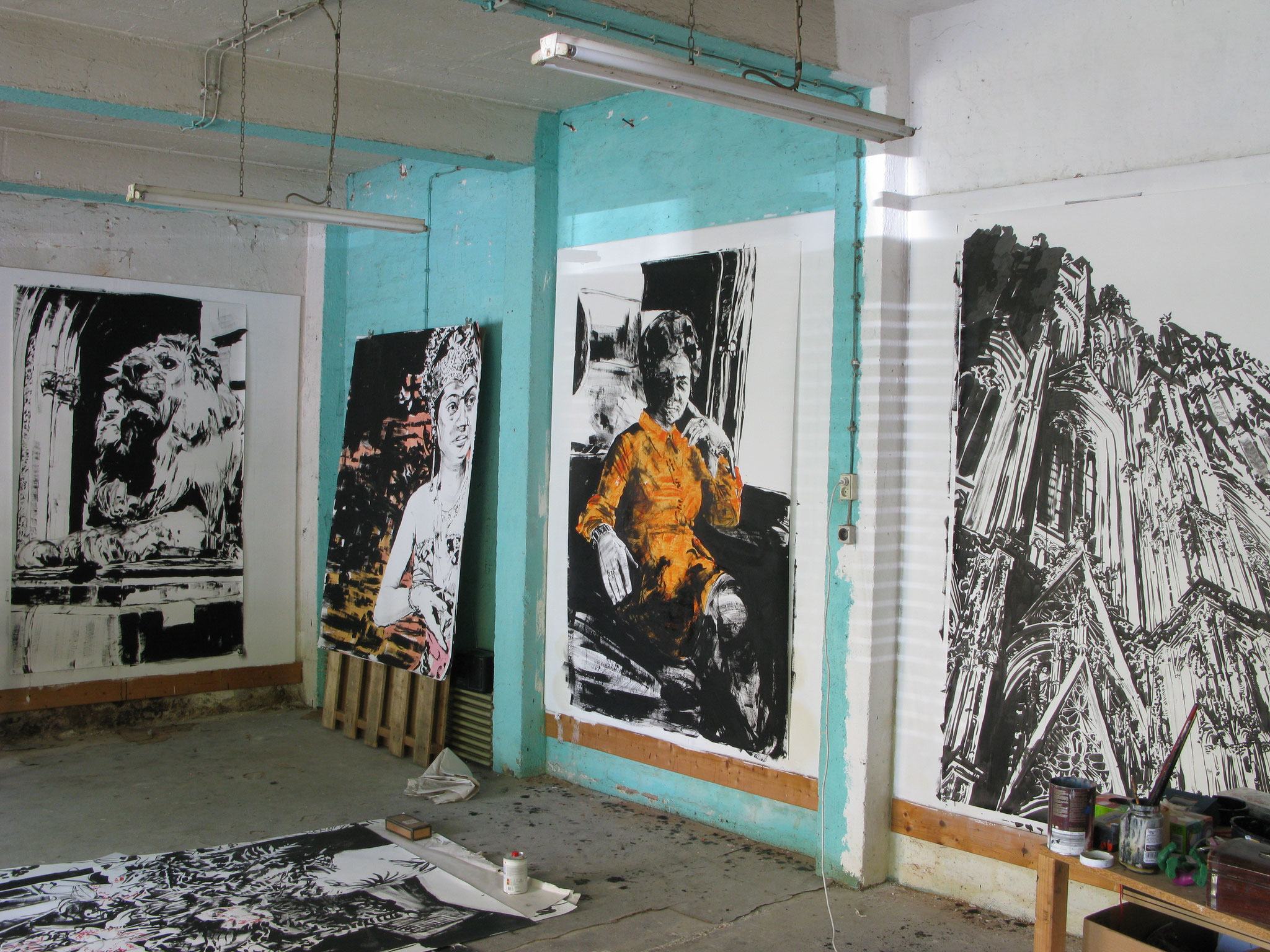 Atelieransicht 2012, Frankfurt am Main