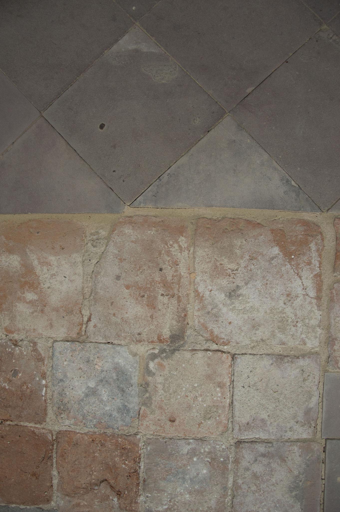 Pflasterarbeiten (Detail 02), Klosterkirche St. Marien, Kloster Zinna