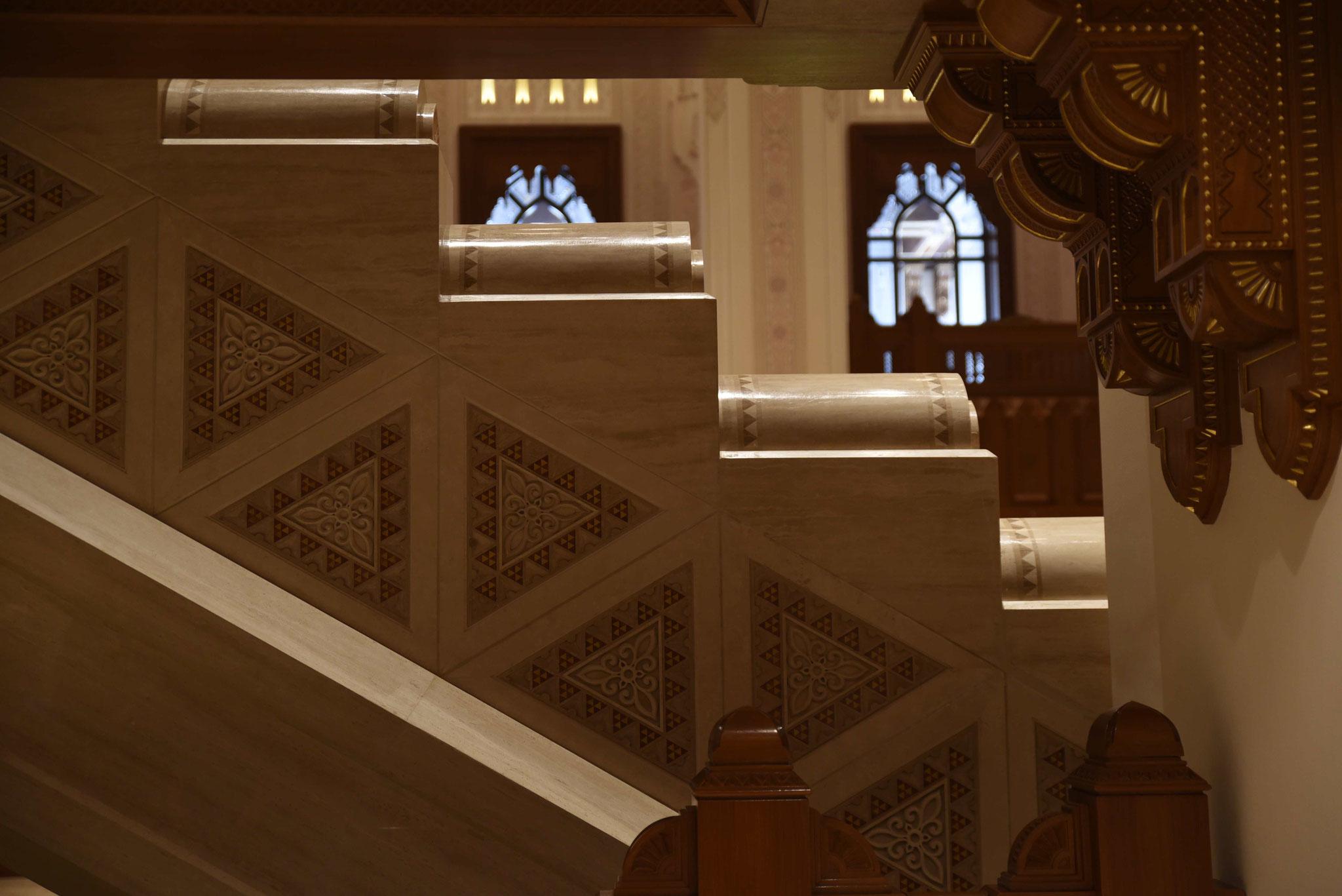 Verzierungen an den Treppen