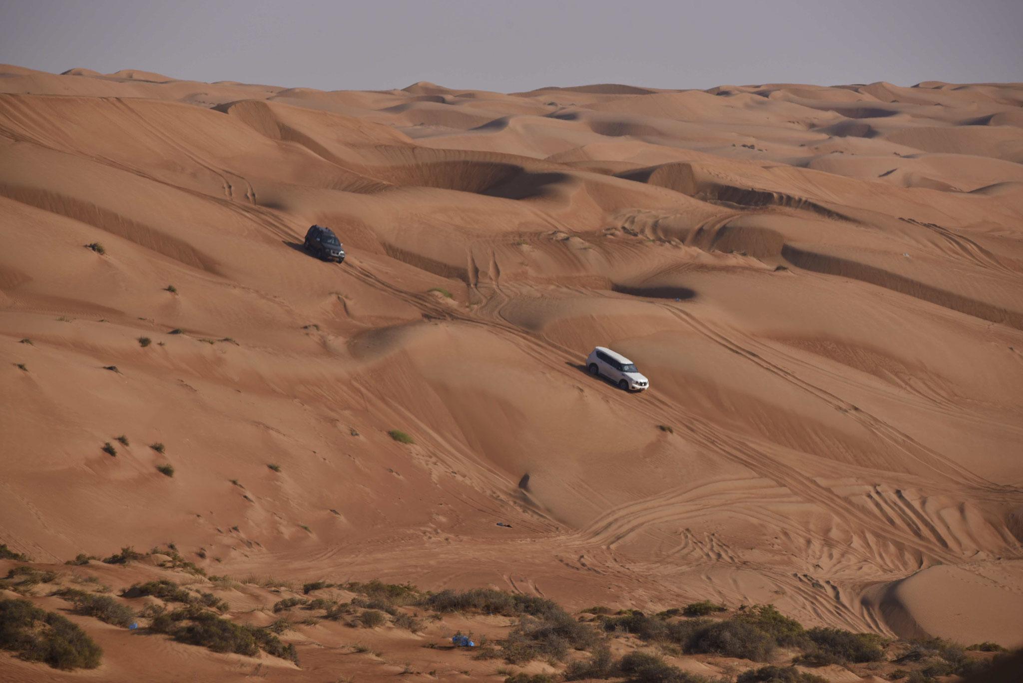 """Sanddünen-""""Tauchen"""" ist ein Freizeitsport vieler Omanis und Touristen"""