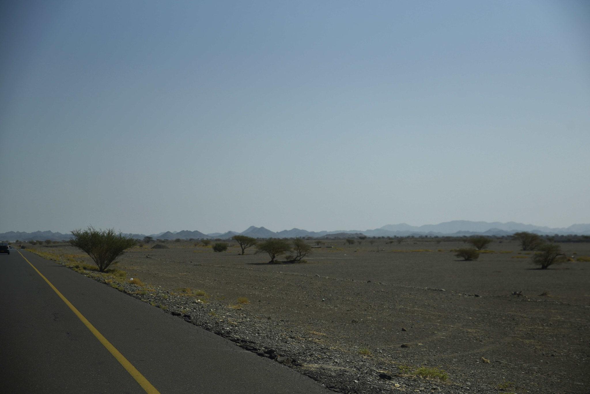 Auf der Strecke nach Ibra im Osten von Nizwa