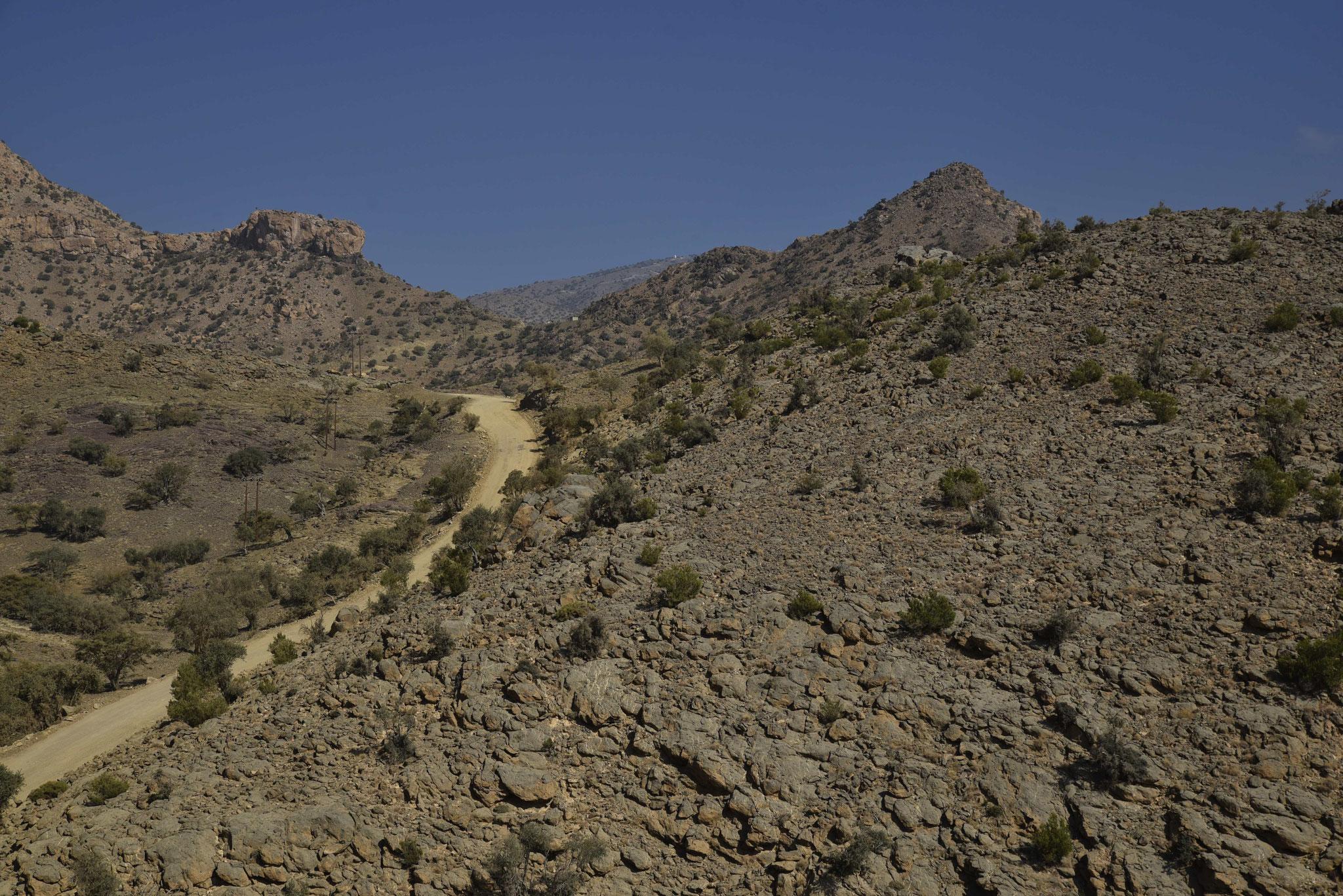 Typischer Streckenverlauf in der Gegend um den Jebel Shams