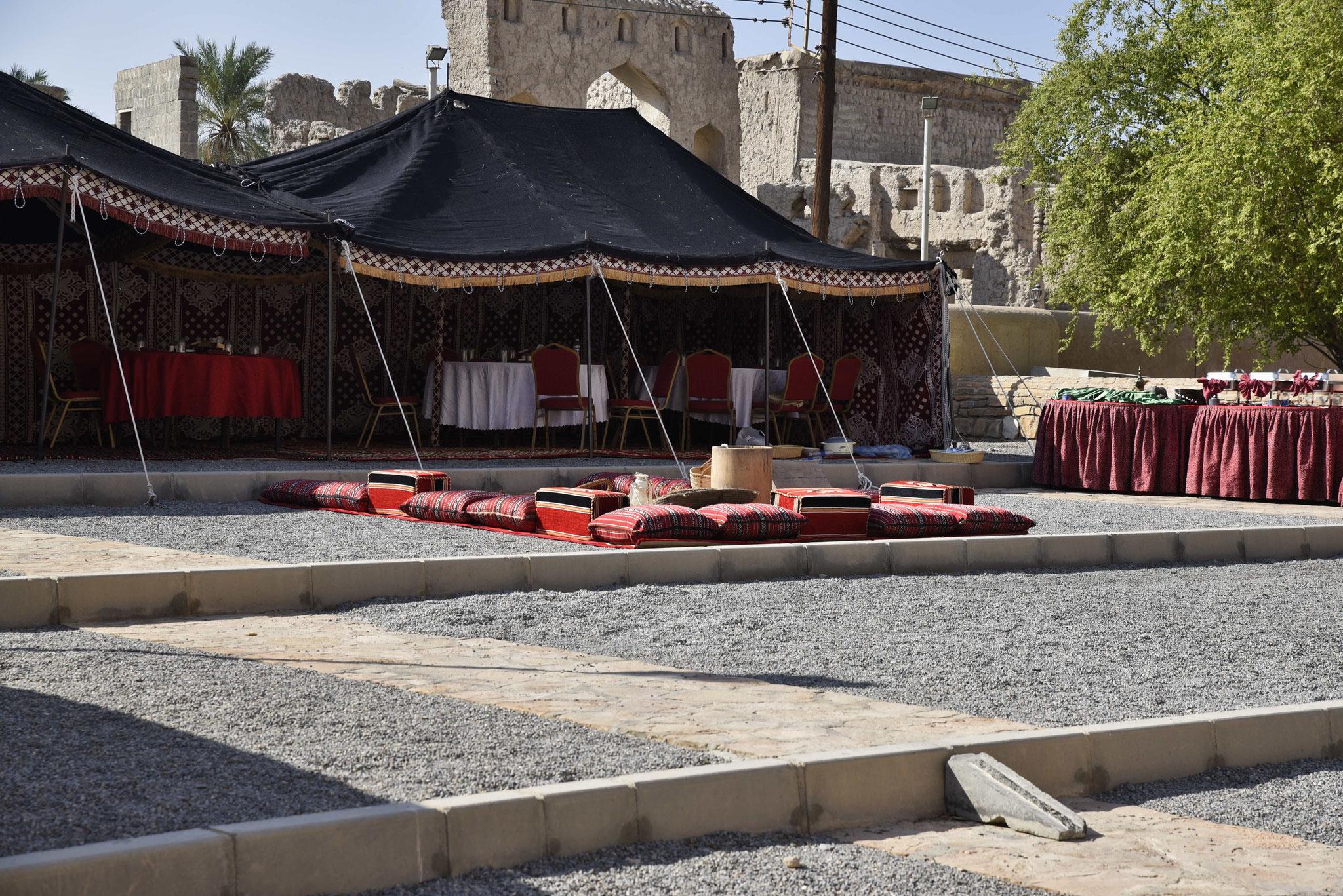 Beduinenzelt für eine Veranstaltung im Fort