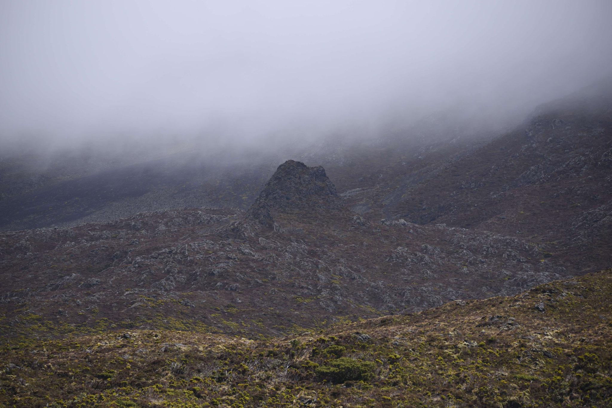 Schlechtwetterfront am Berg Pico