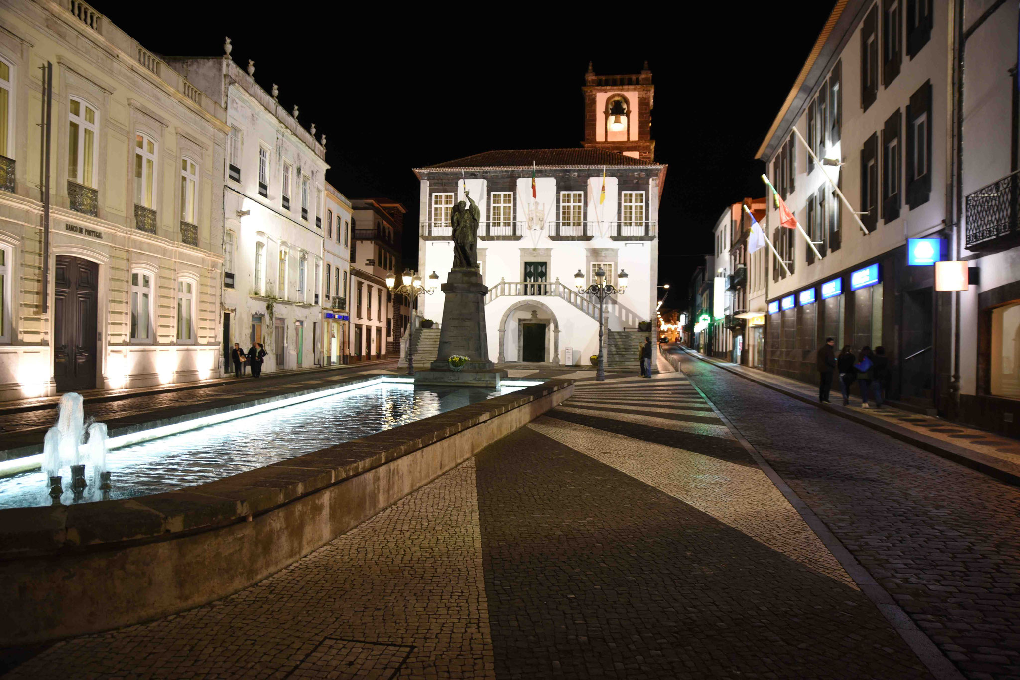 Ponta Delgada at night