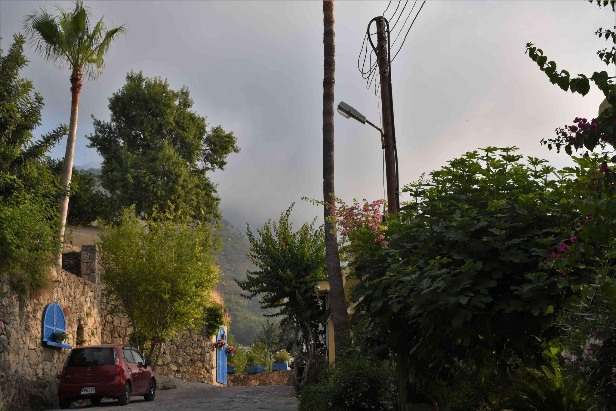 Lauschige Seitenstraße im Örtchen Bellapais