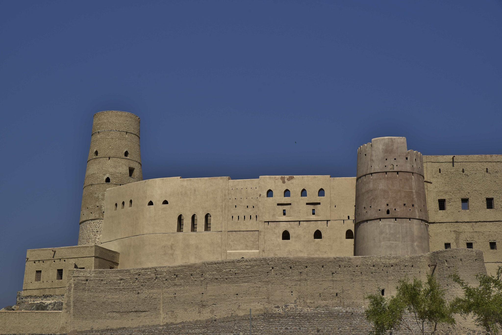 Blick auf die äußere Festungsmauer