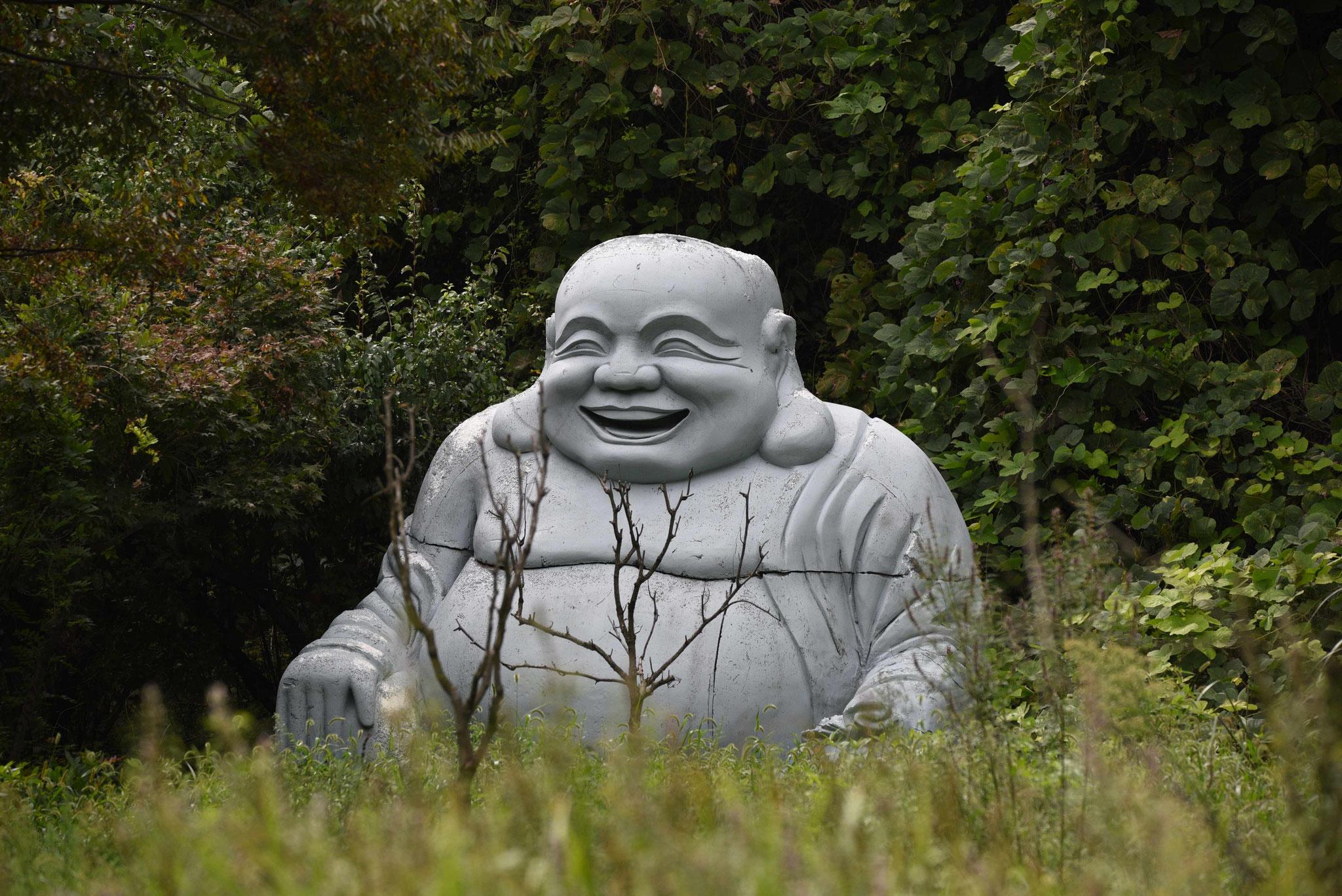 Buddastatue - das Lächeln steckt an
