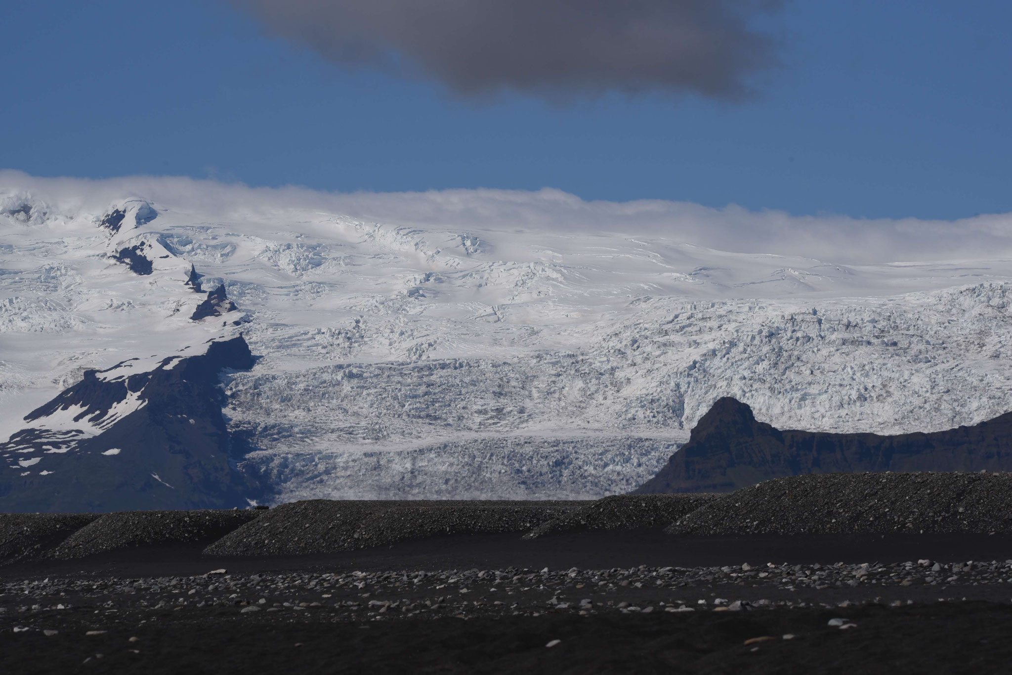 Gletscherzunge am Jökulsarlón