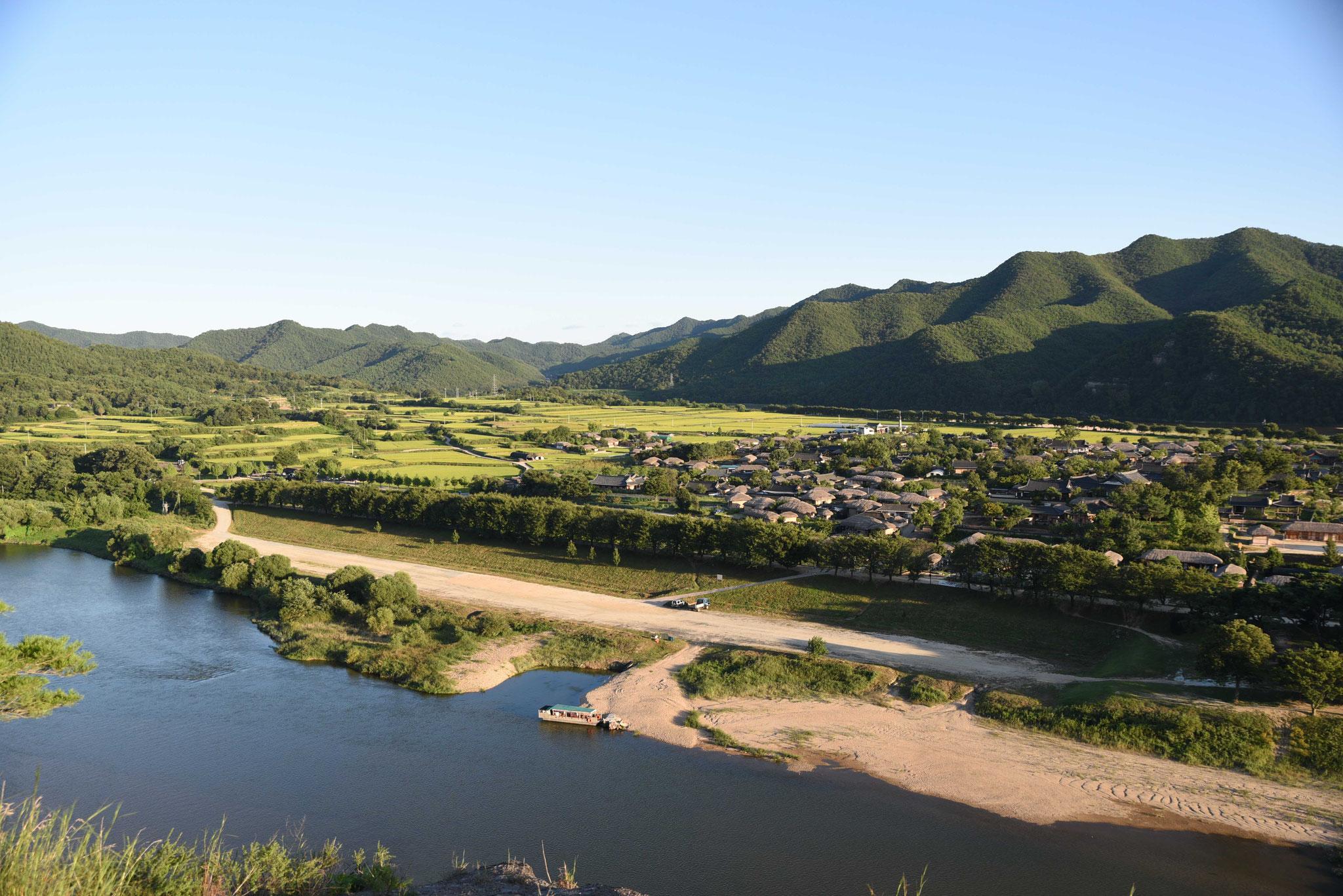 Blick auf den Fluß Andong