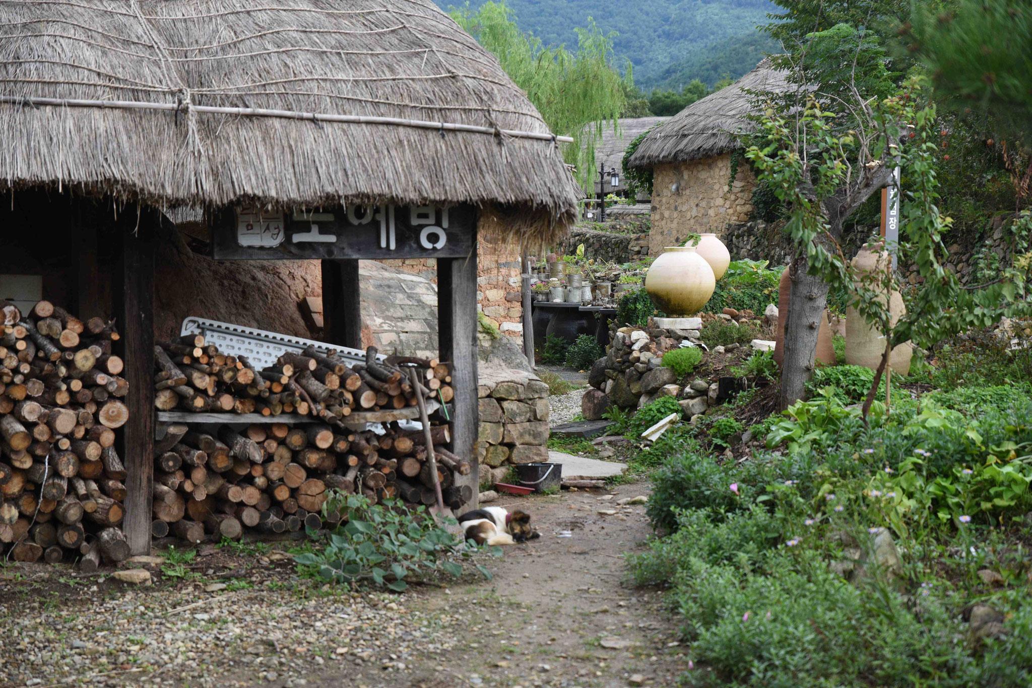 Hinterhof - Holz für die Heizung