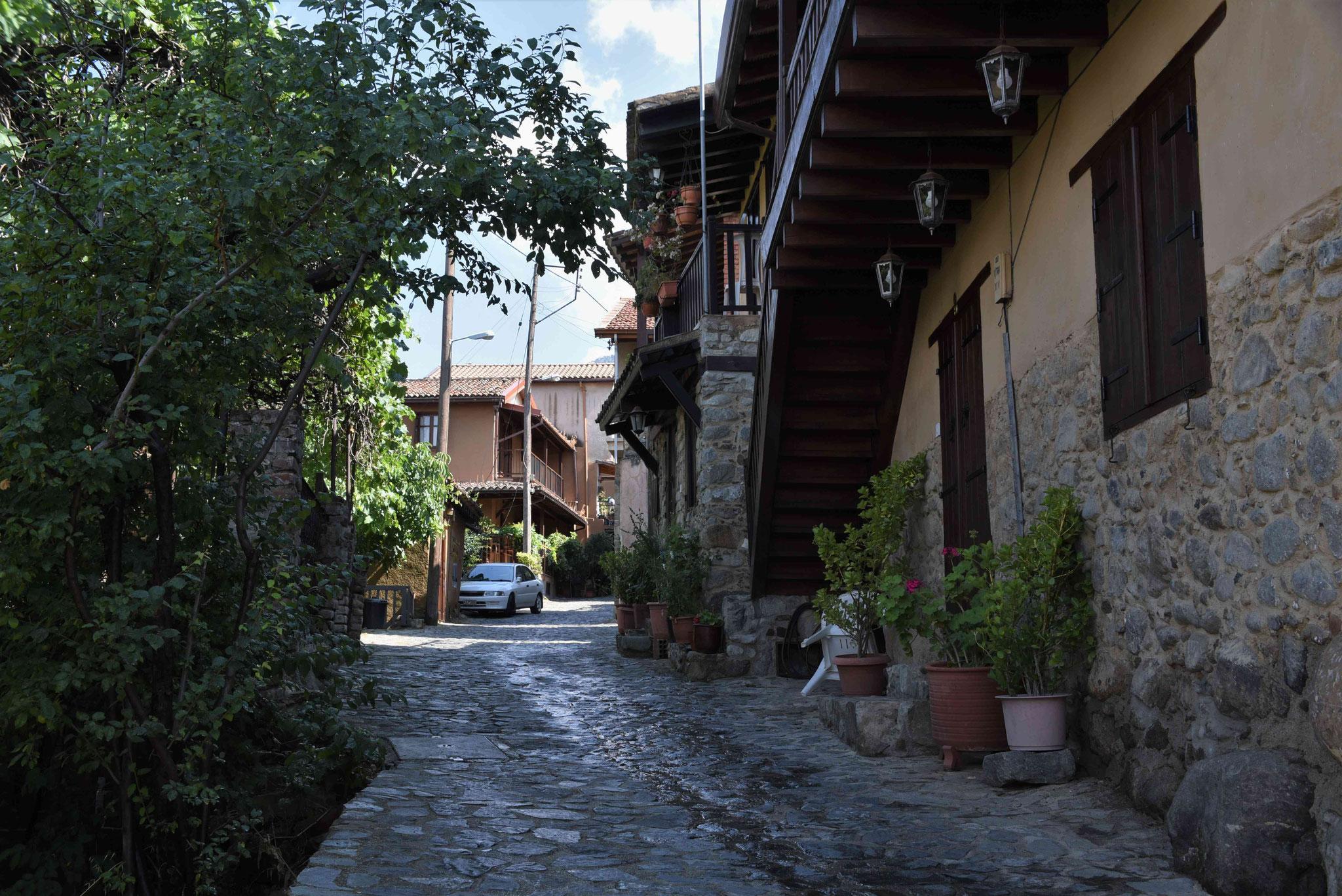 ...und eines der vielen Dörfer besichtigen - hier Kakopetria