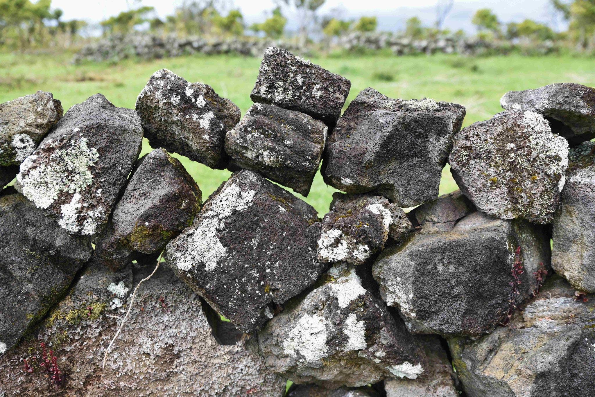Lose Steinmauer