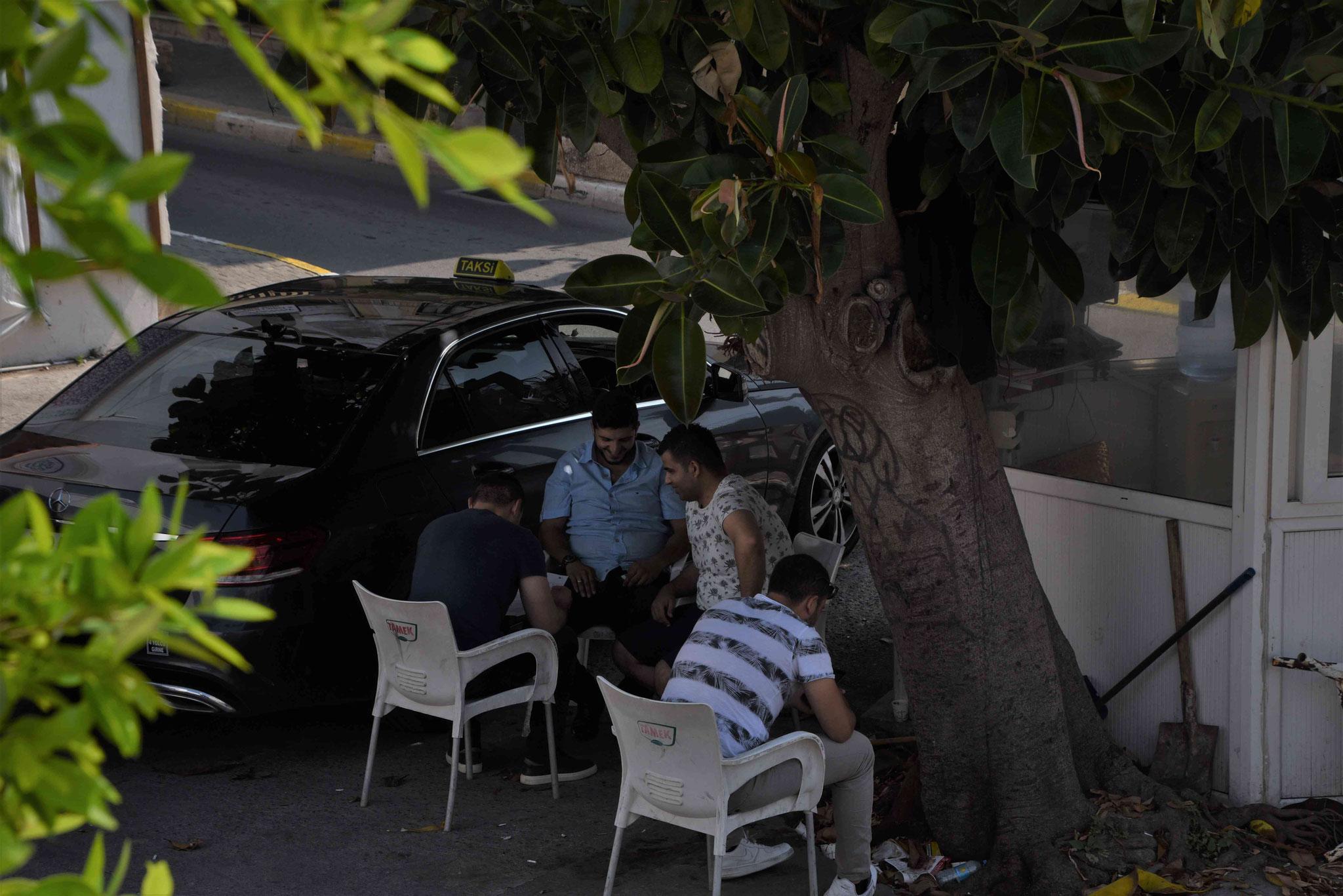 Pausenplatz der Taxifahrer