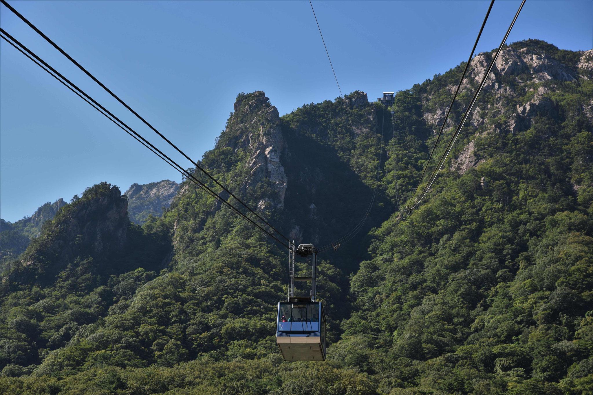 Bequem mit der Seilbahn auf den Berg ;-)