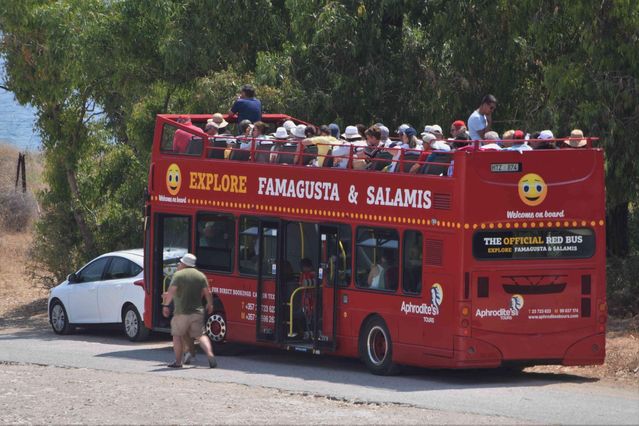 Touristenbus auf Sightseeing-tour