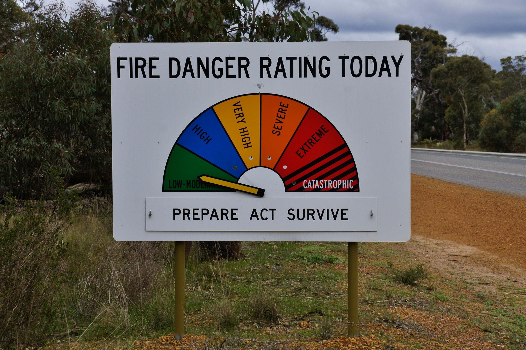 Gefahrenhinweis auf Brandgefahr