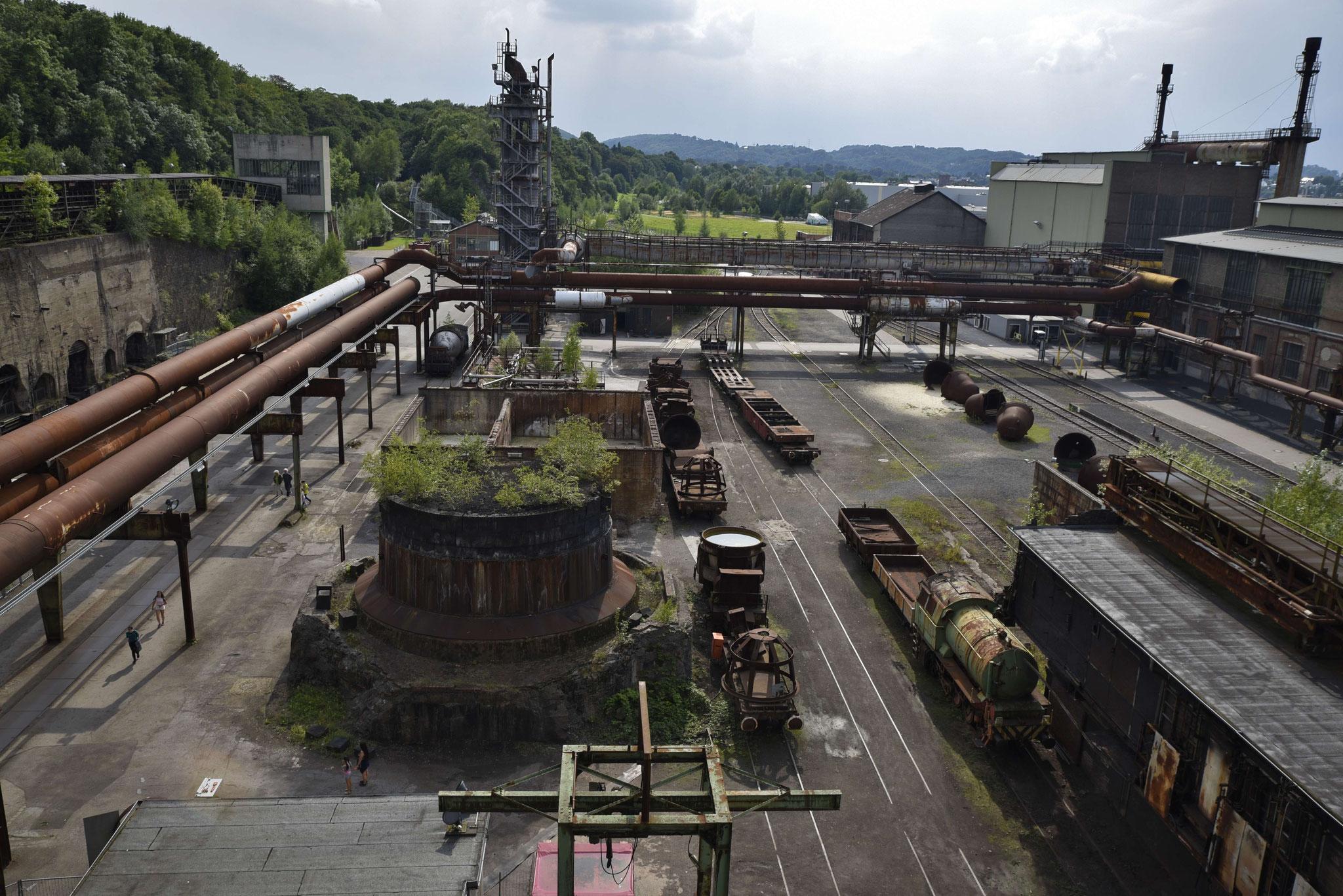 Blick über das Werksgelände Henrichshütte