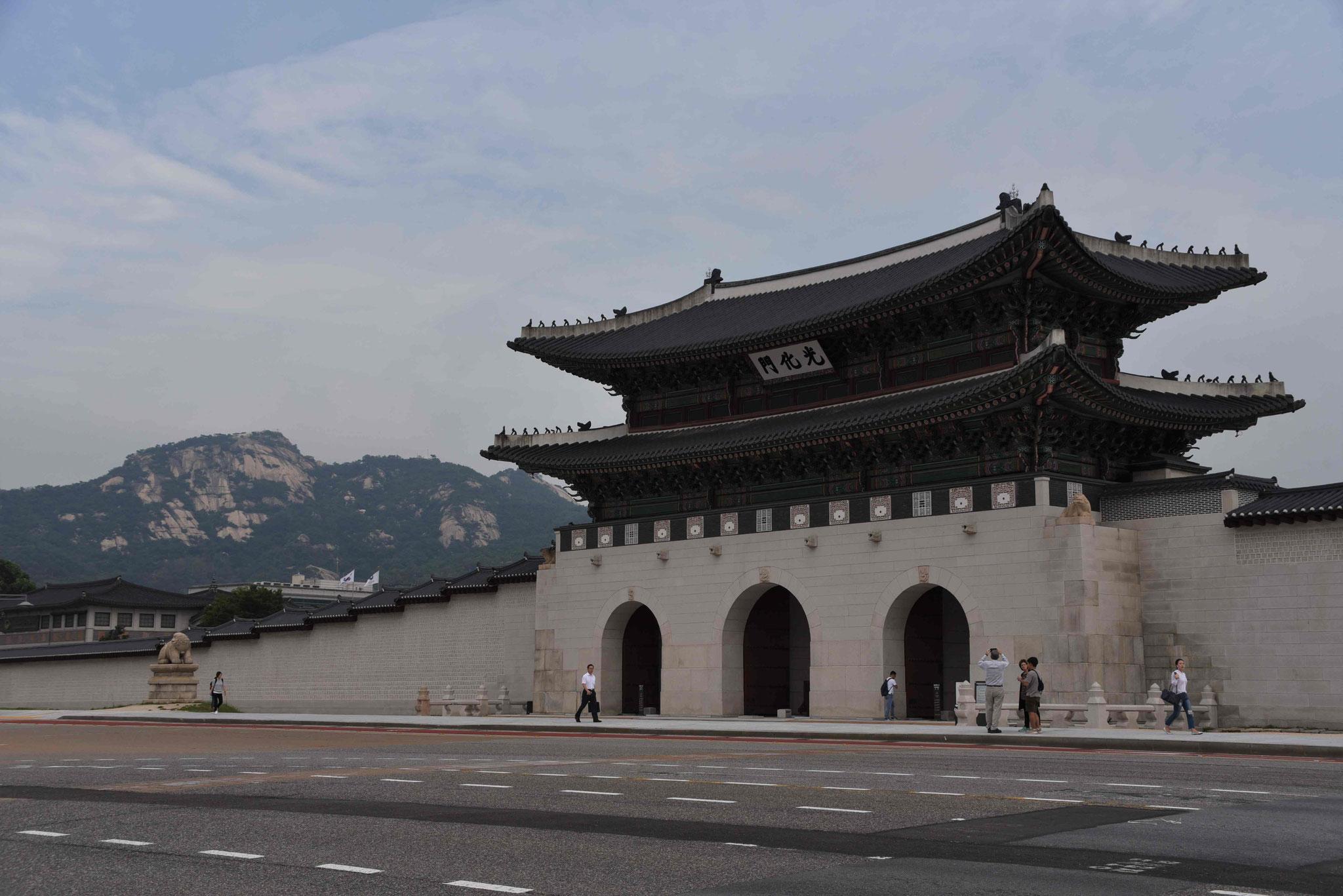 Haupttor in den Palast Gyeongbokgung