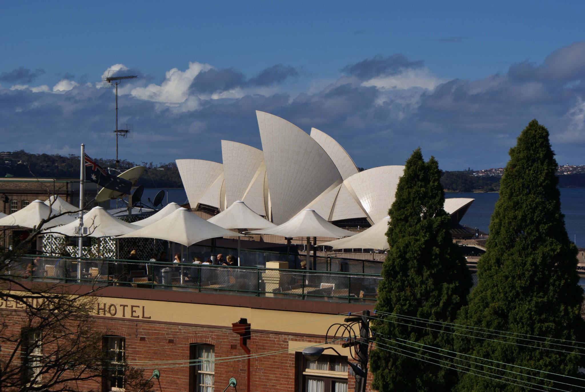 Blick auf die Oper von Sydney