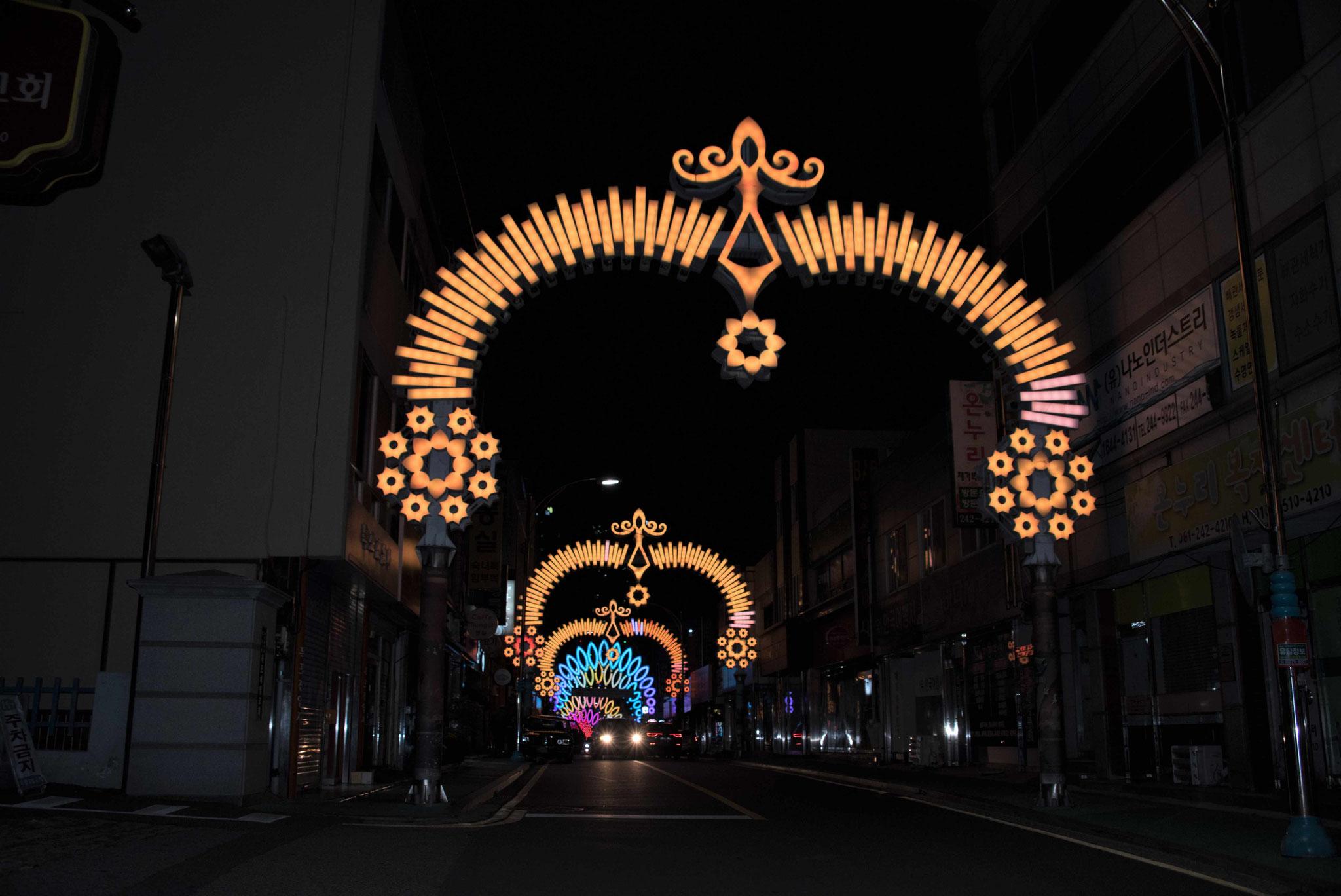 Straßenbeleuchtung in Mokpo III