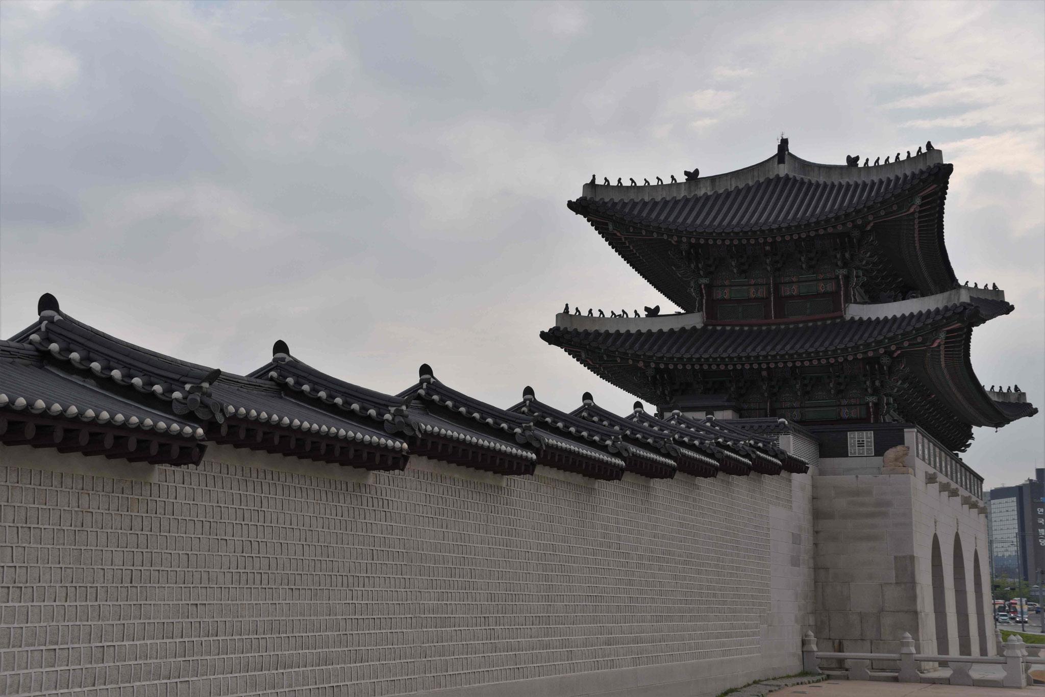 Außenmauer des Palastes Gyeongbokgung