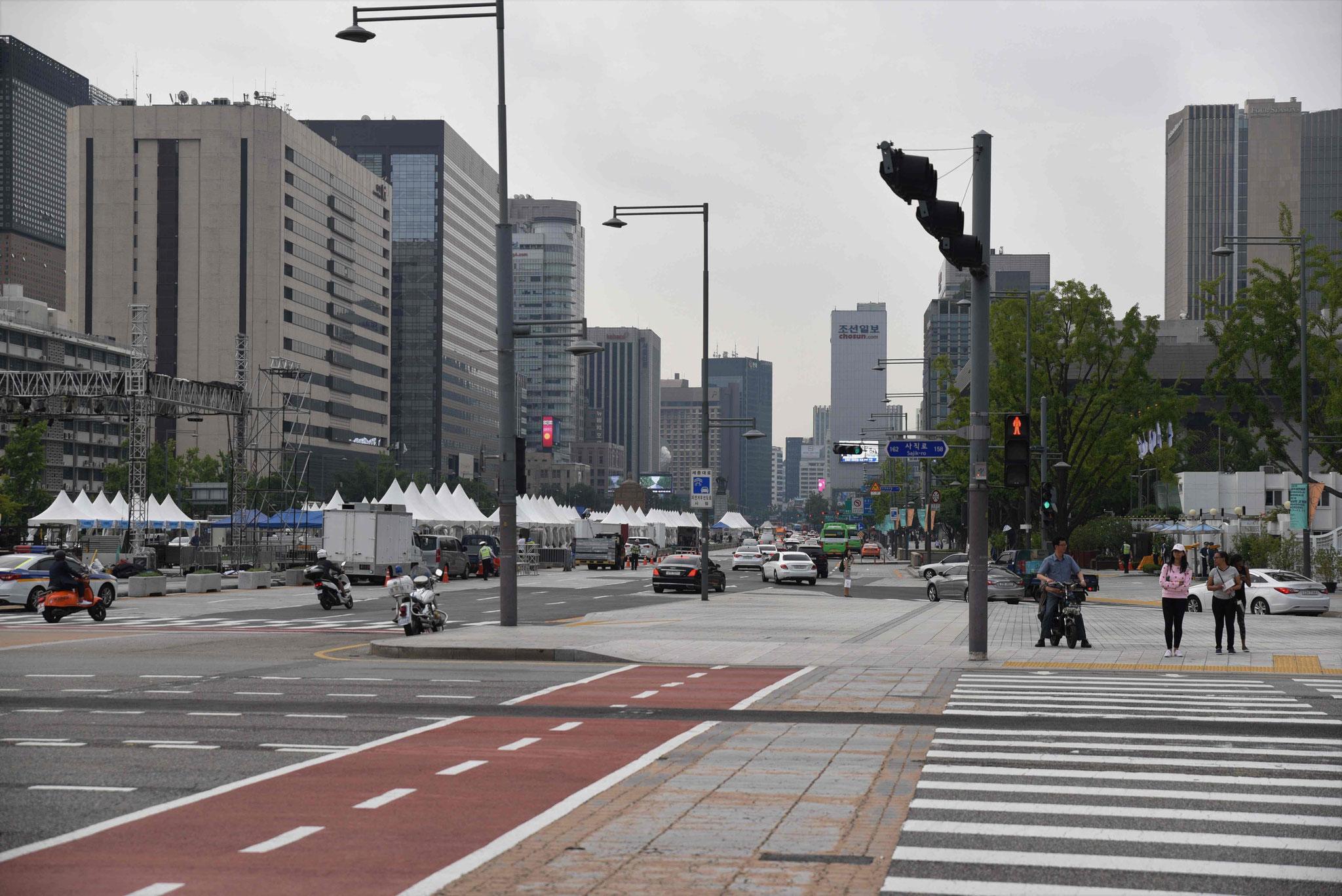 Zufahrtsstraße zu dem Gyeongbokung-Palast