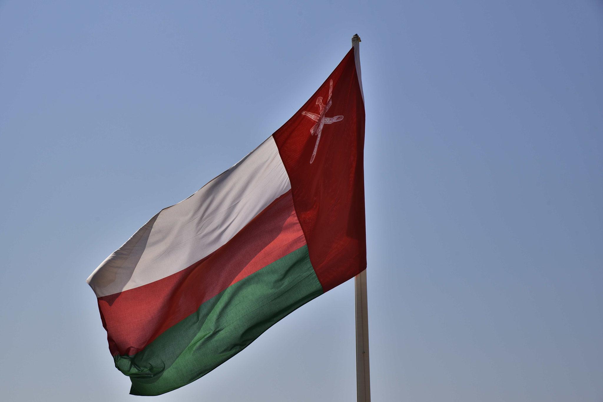 Die omanische Flagge