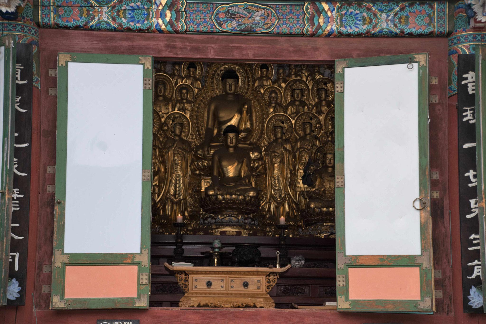 Blick in den Tempel