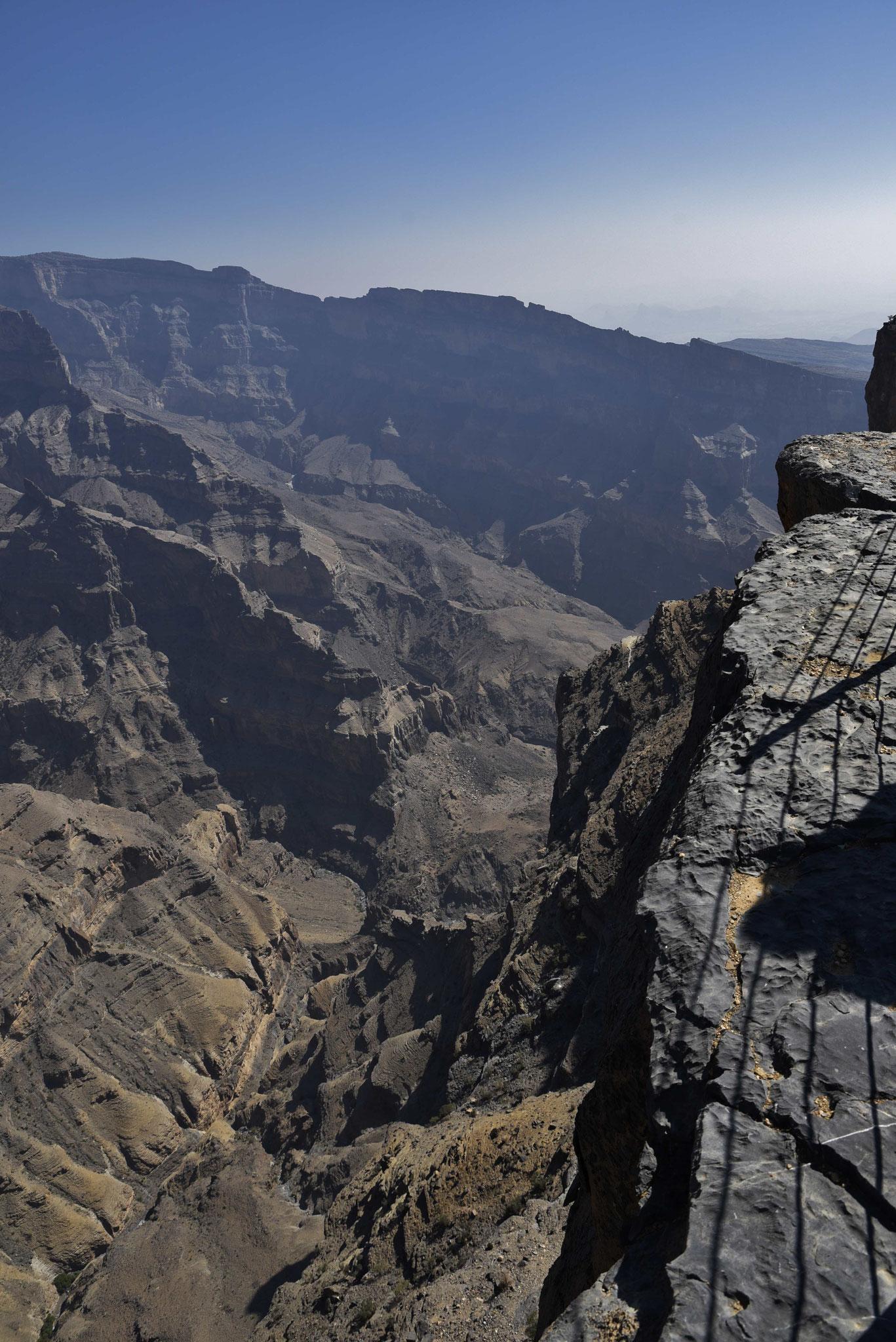 Blick entgegengesetzt entlang des Canyons