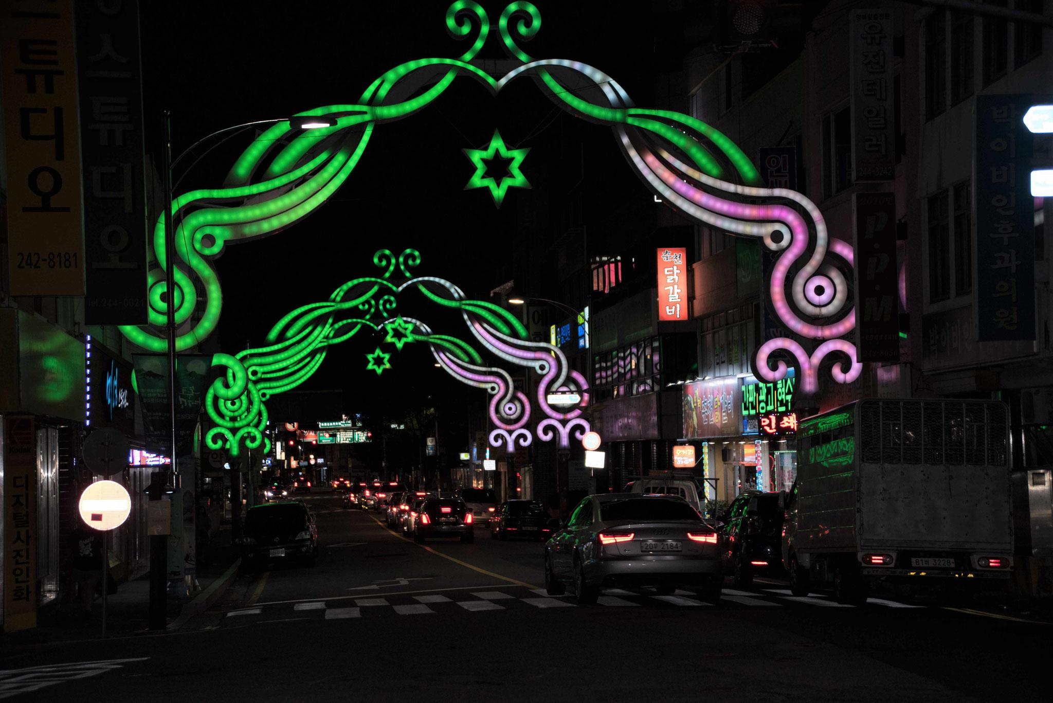 Straßenbeleuchtung in Mokpo II