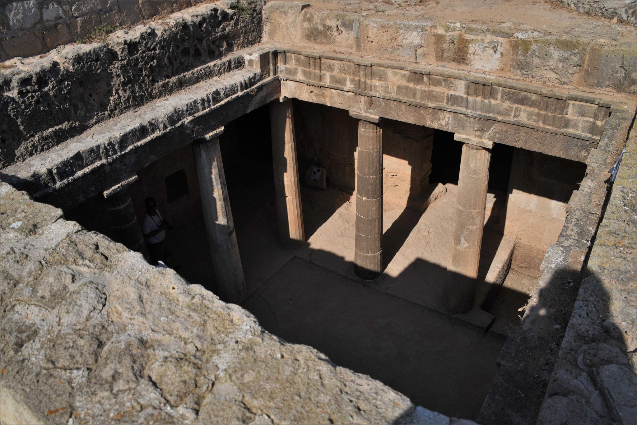 Ausgrabungsstätte in Páfos - Königsgräber