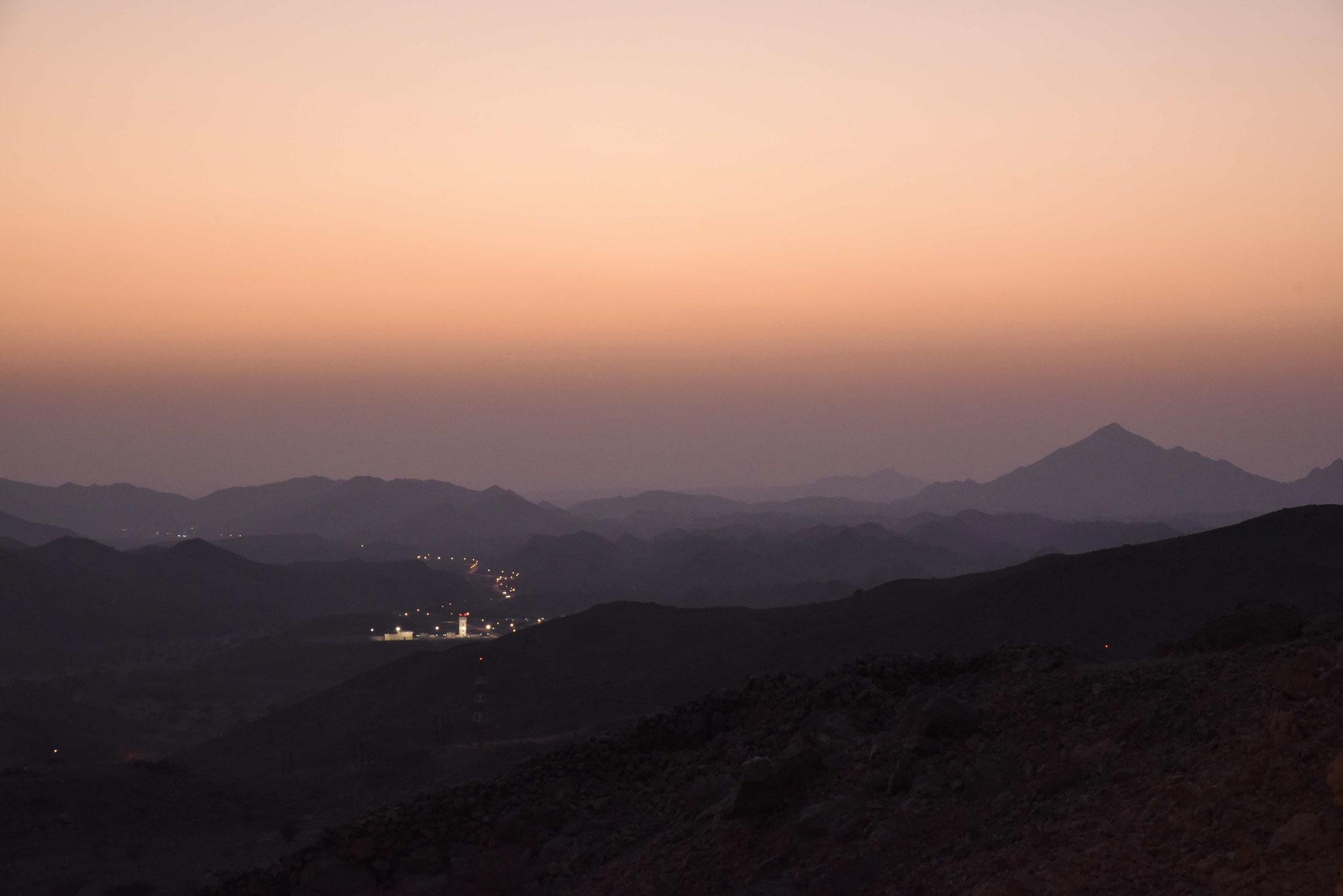 Sonnenuntergang im Hajar-Gebirge