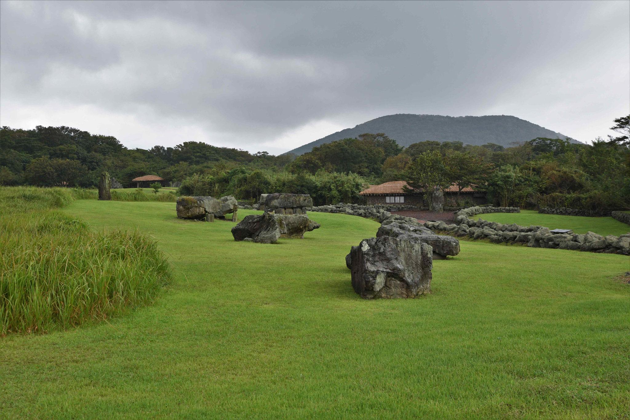 Im Jeju Stone Park findet man viel Parkflächen