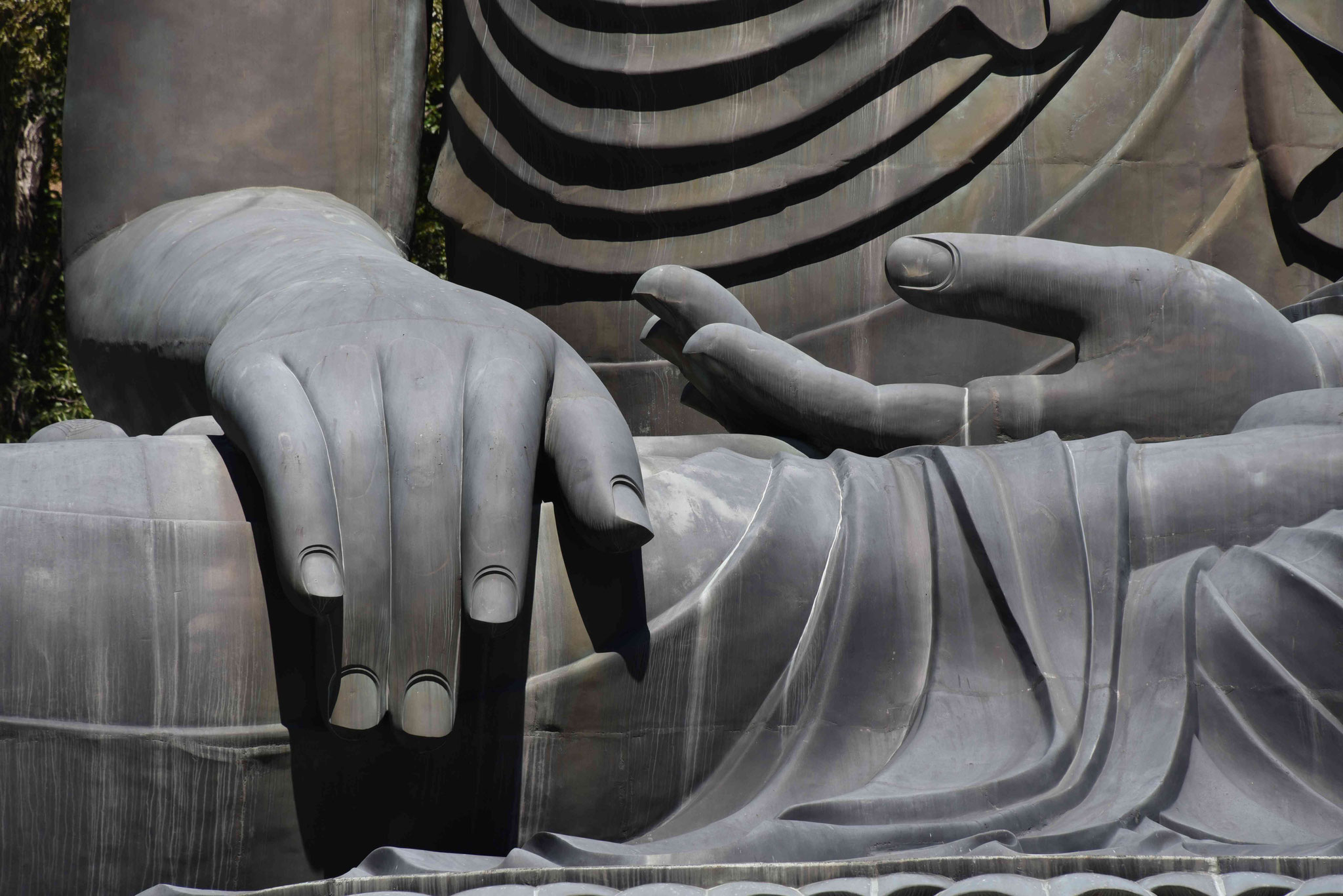 Detailausschnitt der Statue