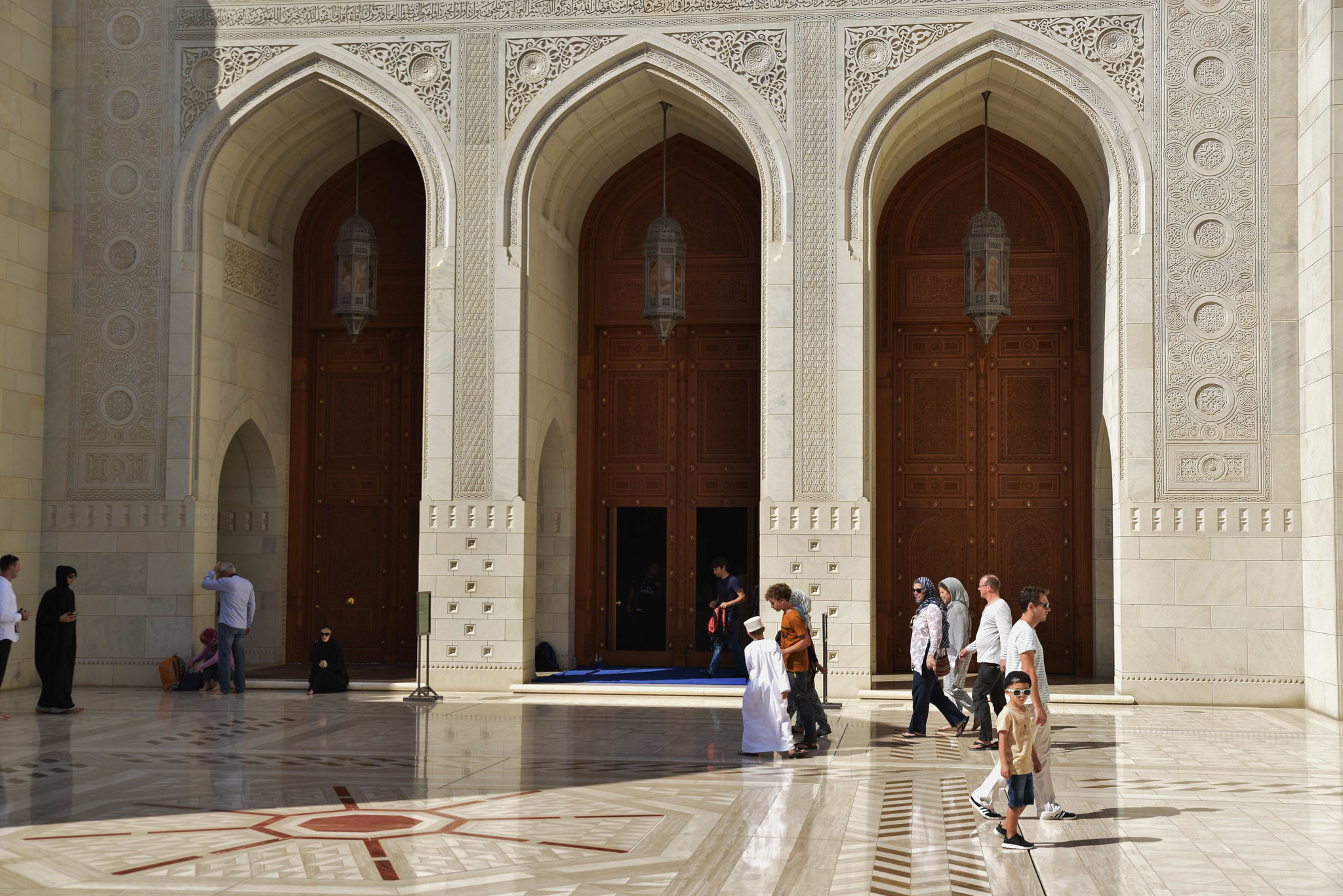 Holztüren in die Moschee