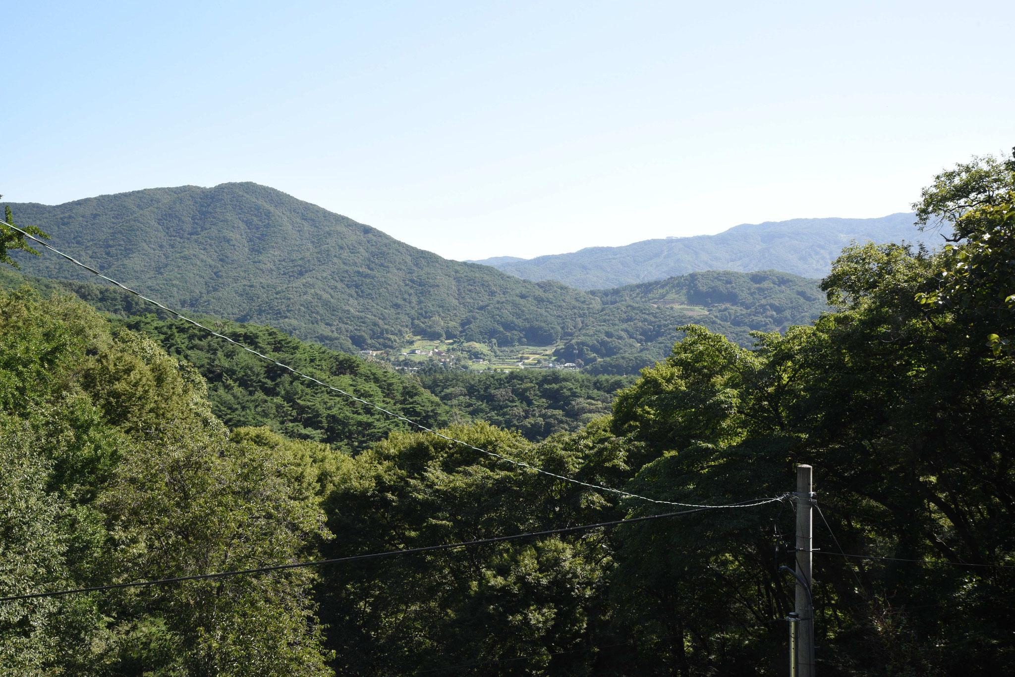 Blick über das Tal von Magoksa